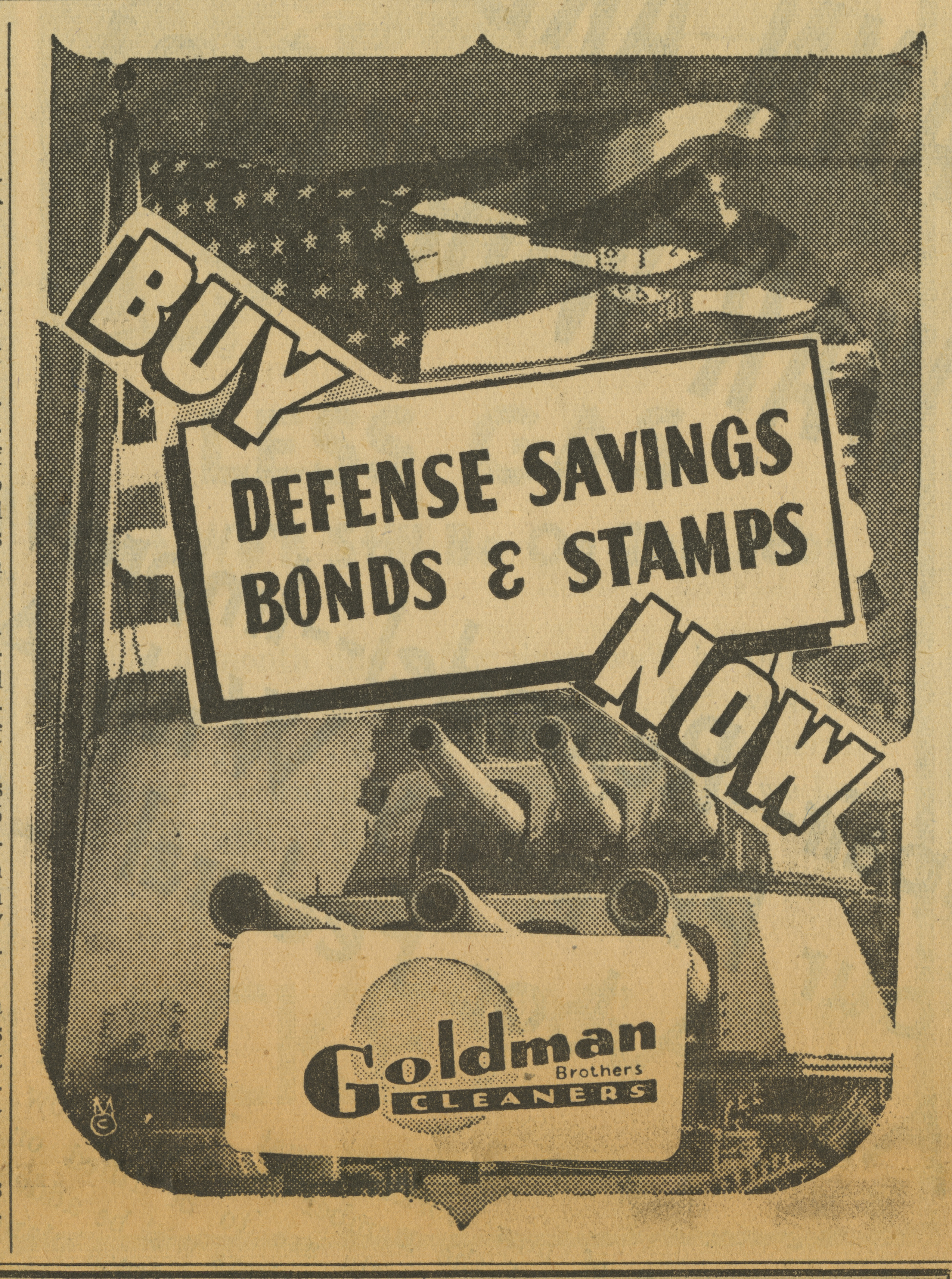 Goldman Brothers Cleaners [advertisement] image