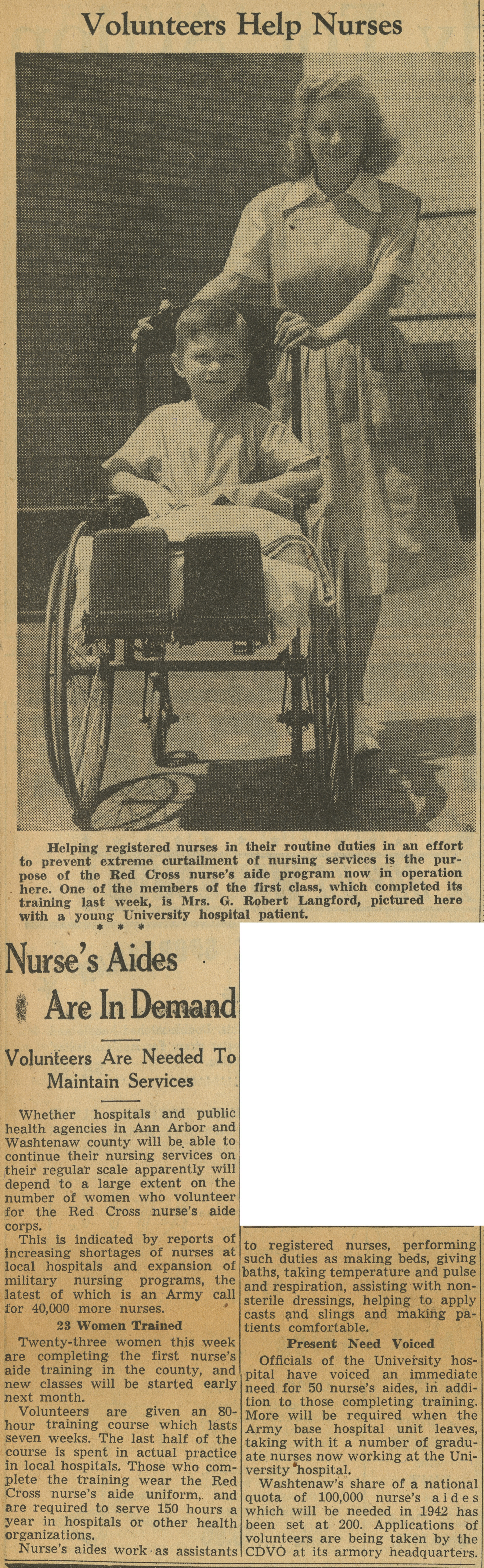 Nurse's Aides Are In Demand image