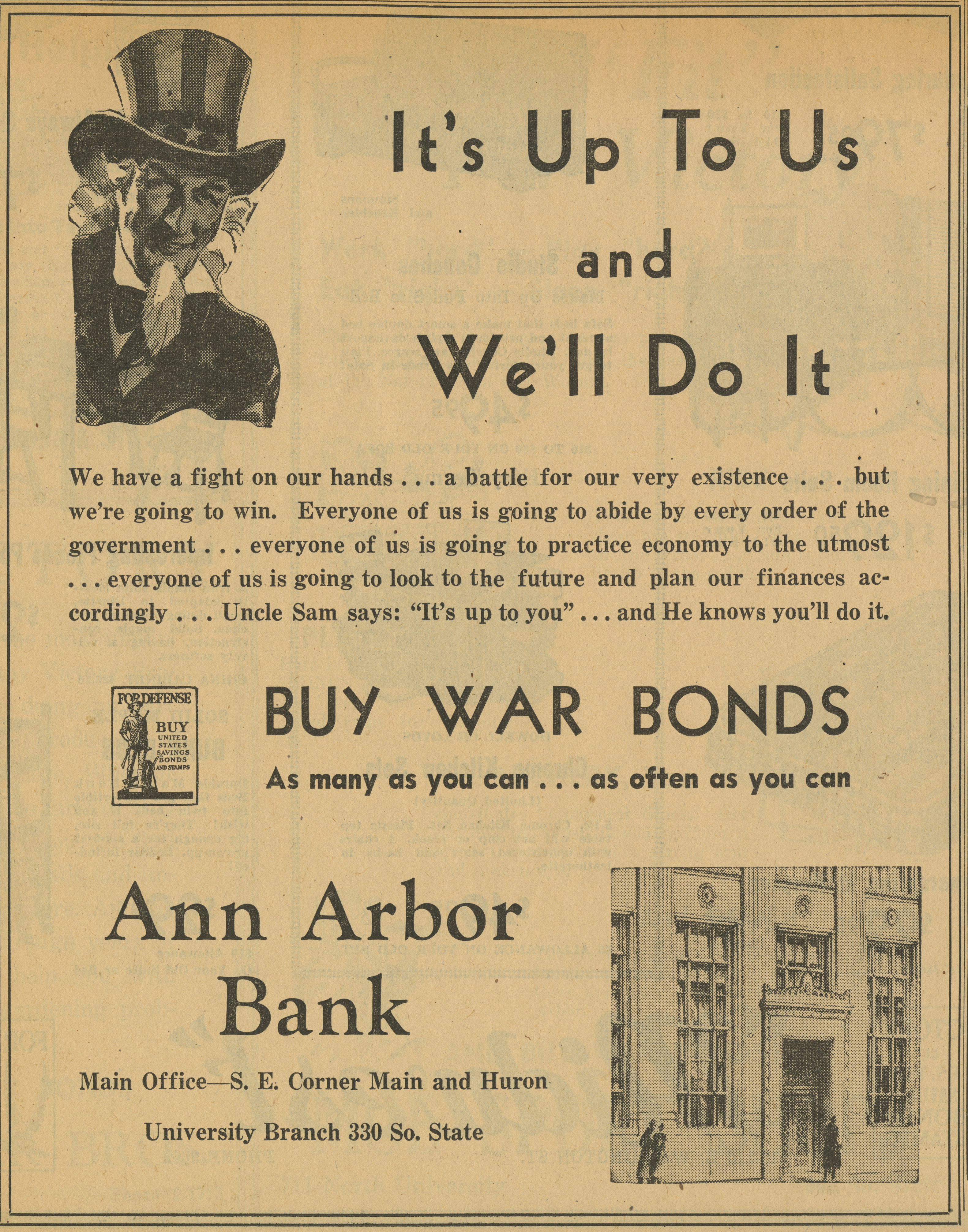 Ann Arbor Bank [advertisement] image