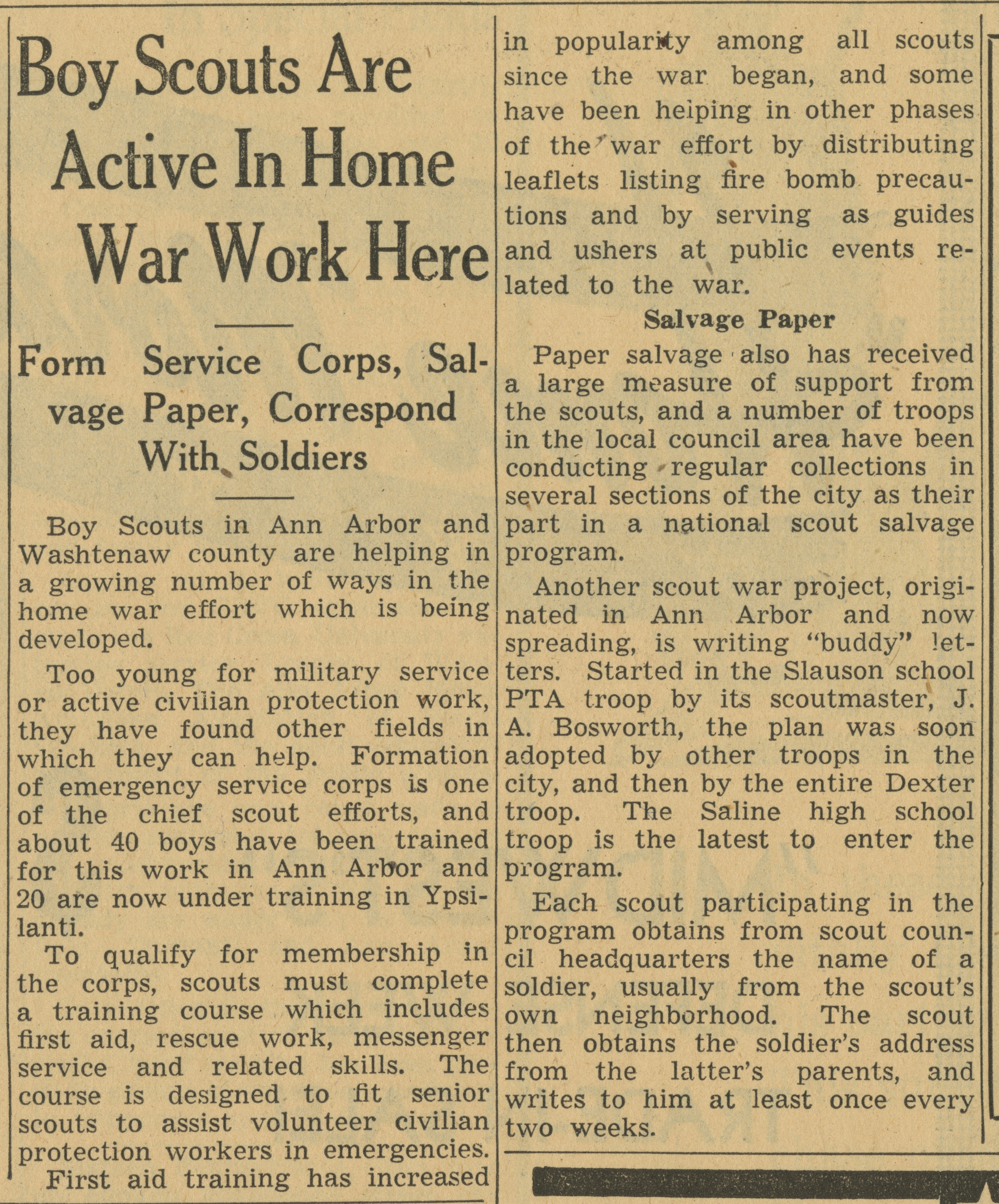 Boy Scouts Are Active In Home War Work Here image