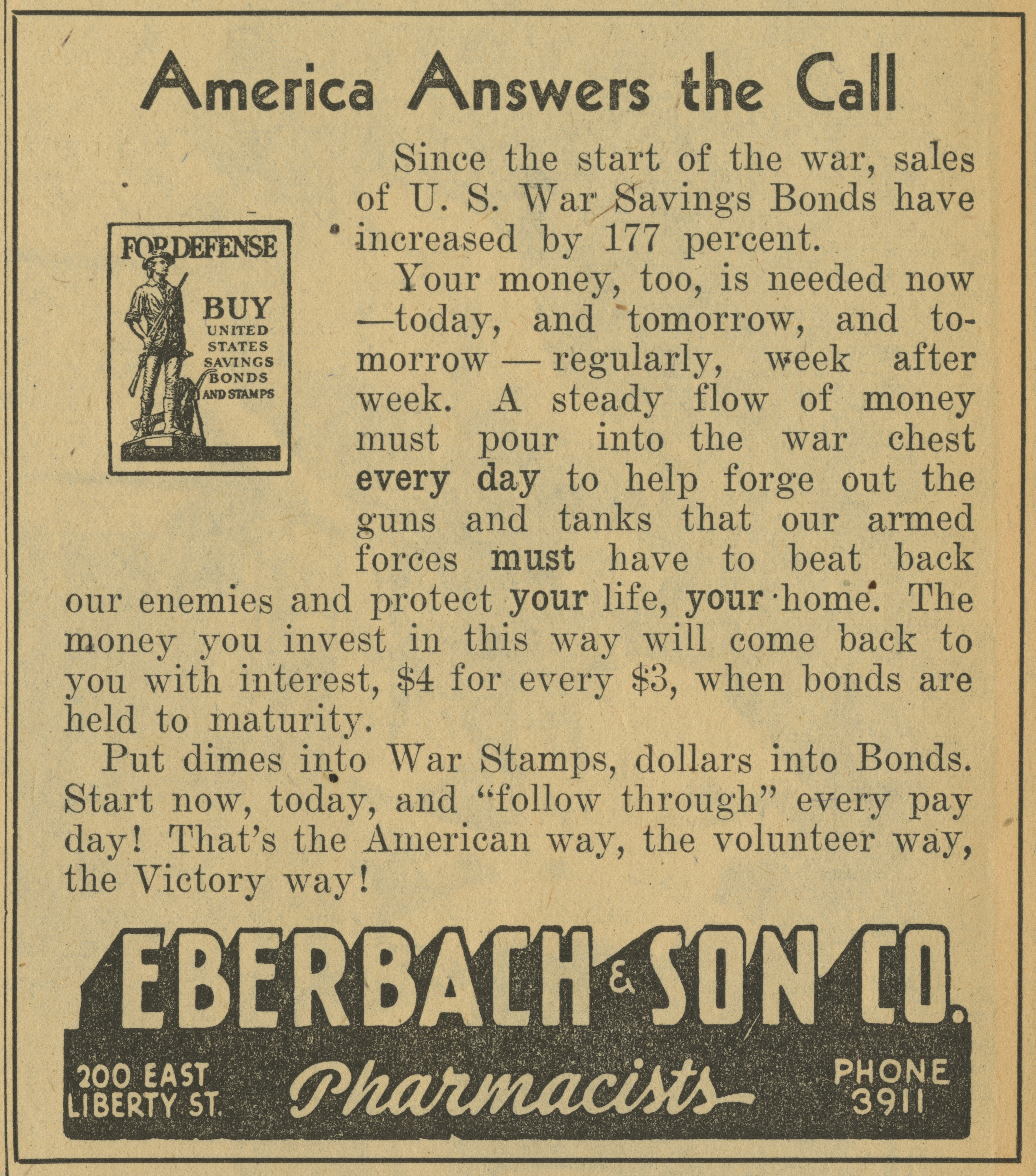 Eberbach & Son Co. [advertisement] image