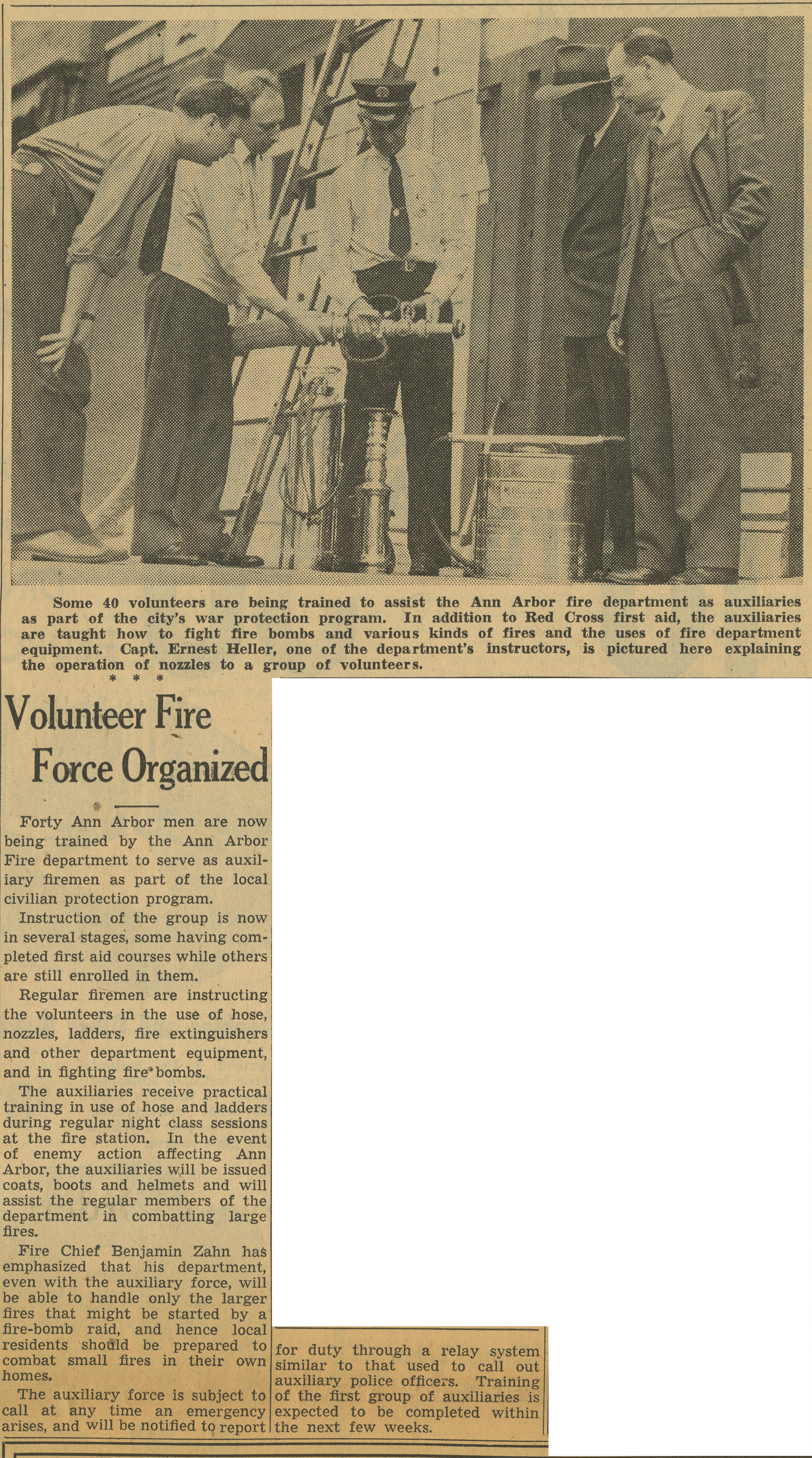 Volunteer Fire Force Organized image