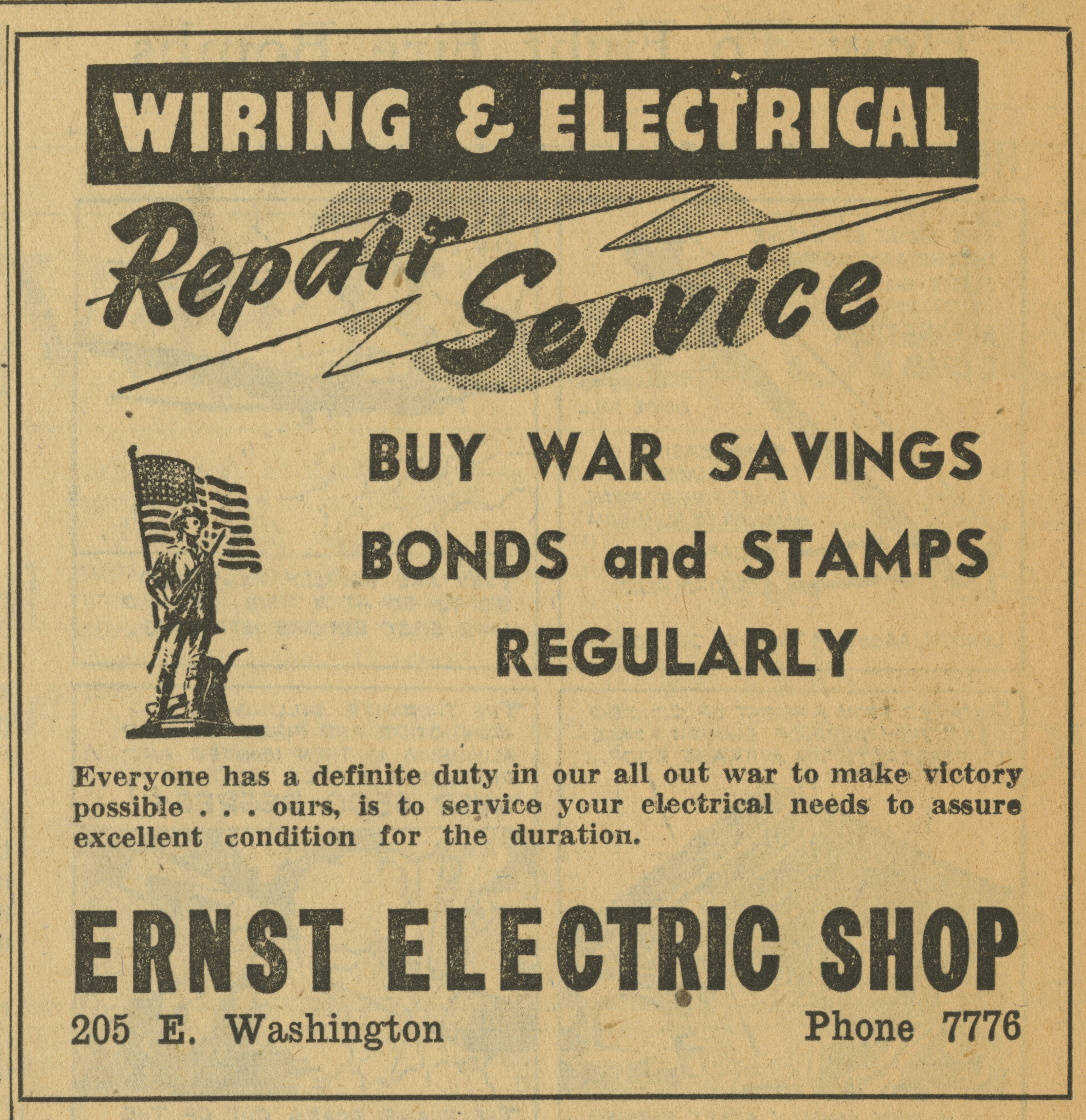 Ernst Electric Shop [advertisement] image