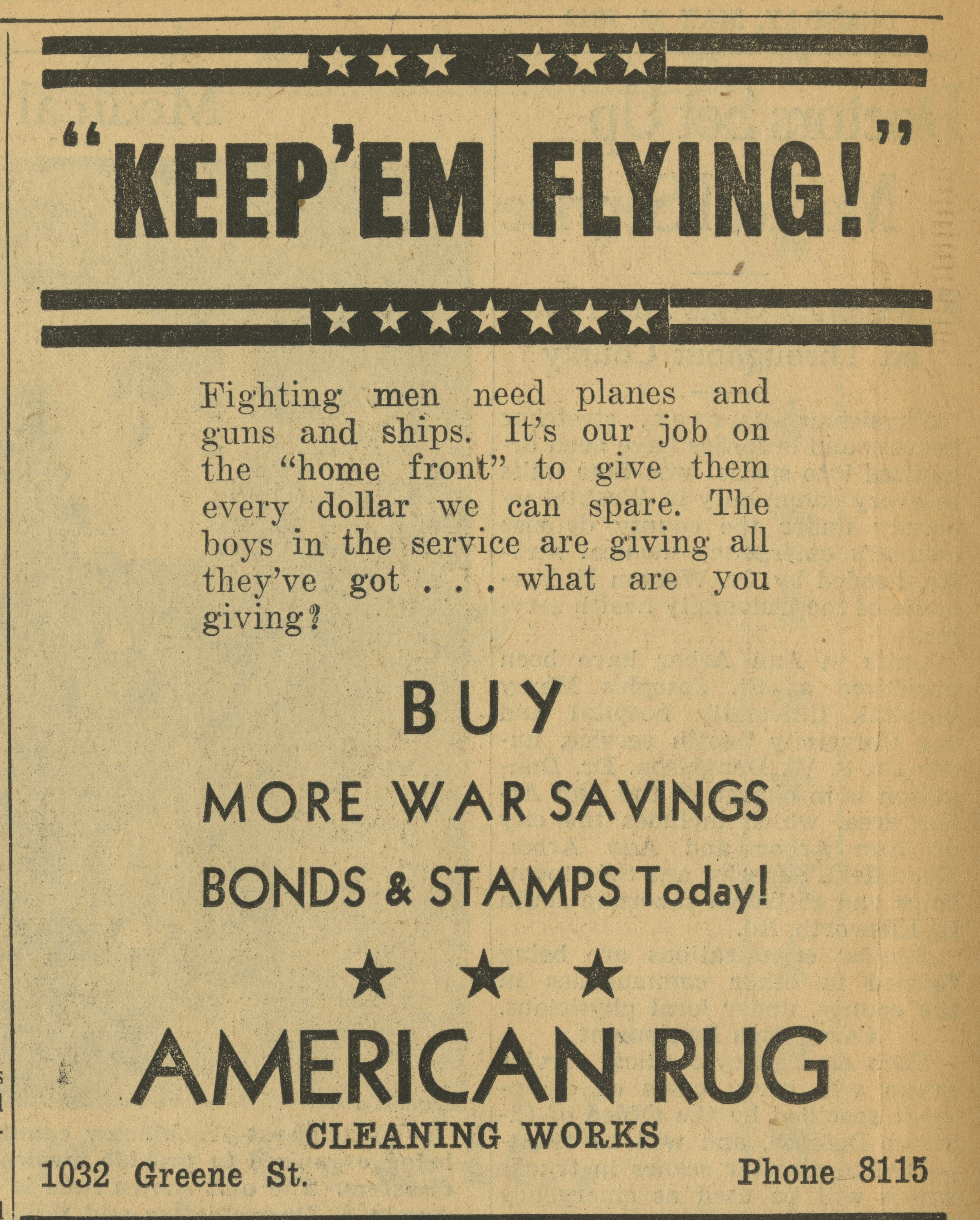American Rug Cleaning Works [advertisement] image