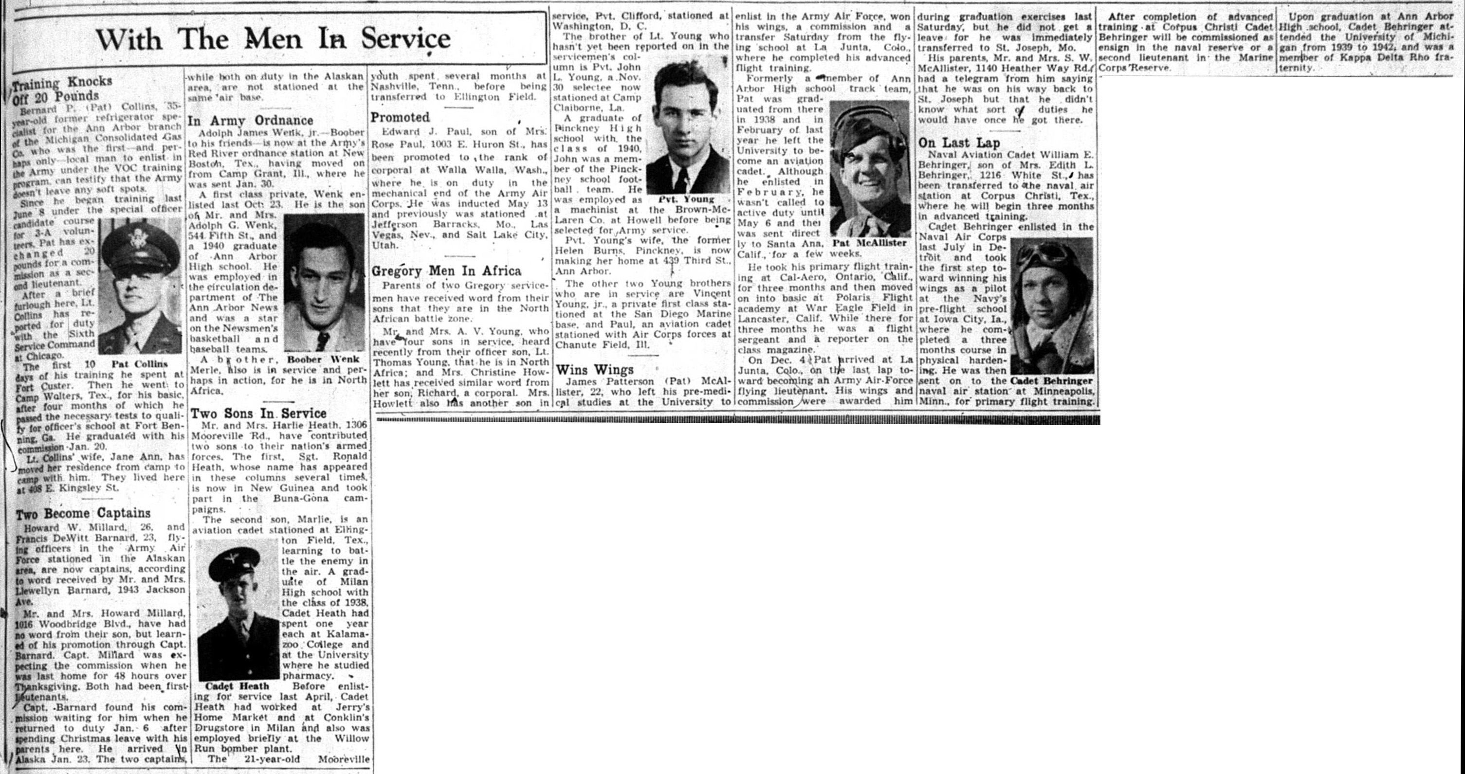 With The Men In Service: February 11, 1943 image