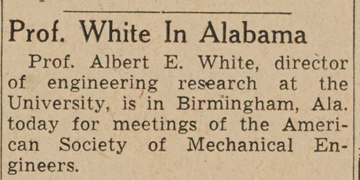 Prof. White In Alabama image