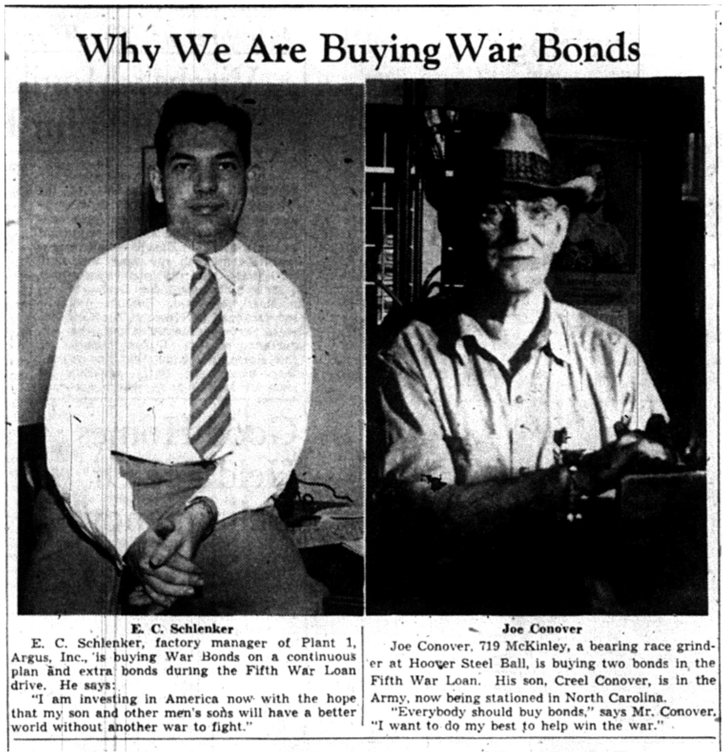 Why We Are Buying War Bonds image