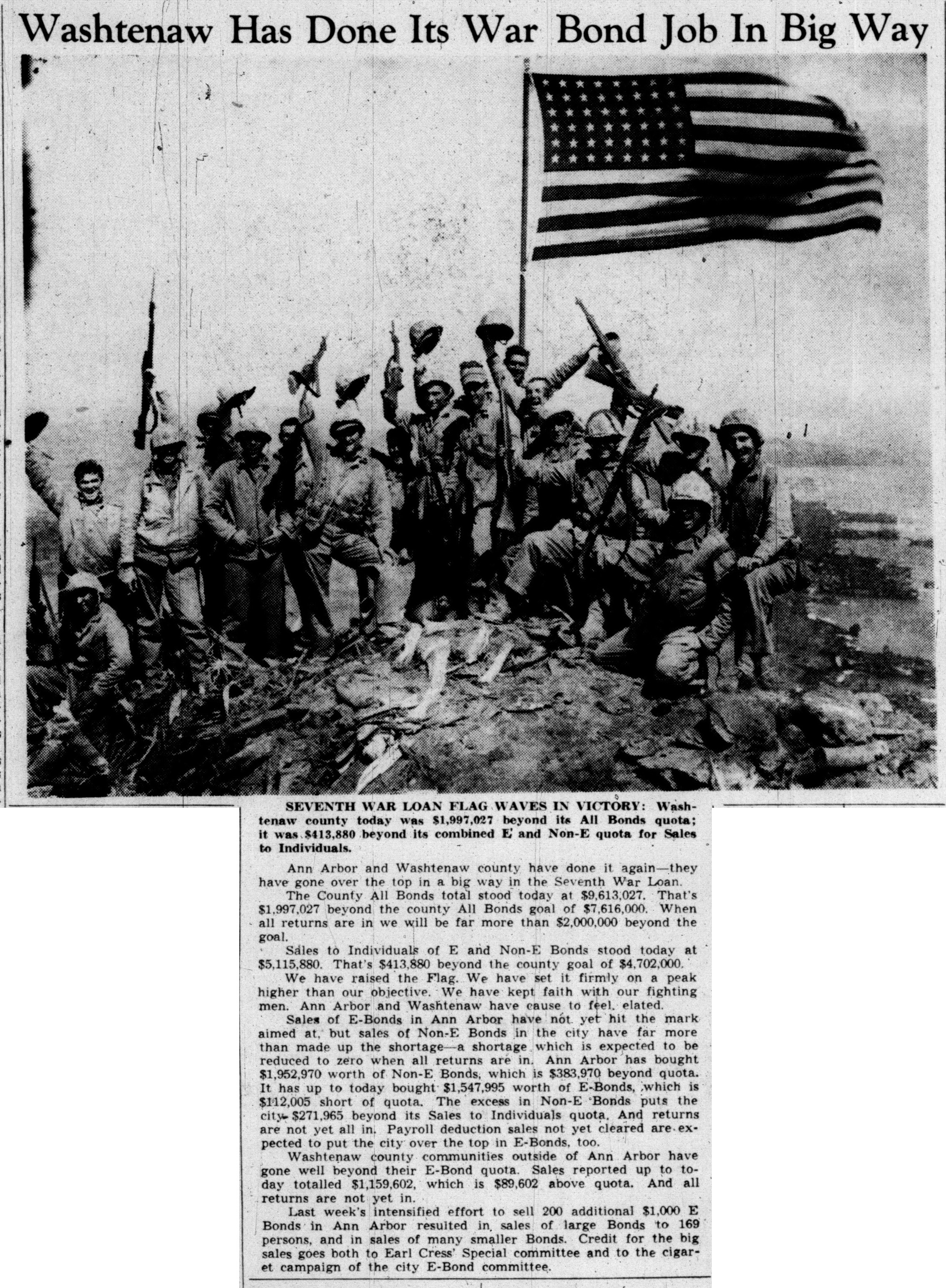 Washtenaw Has Done Its War Bond Job In Big Way image