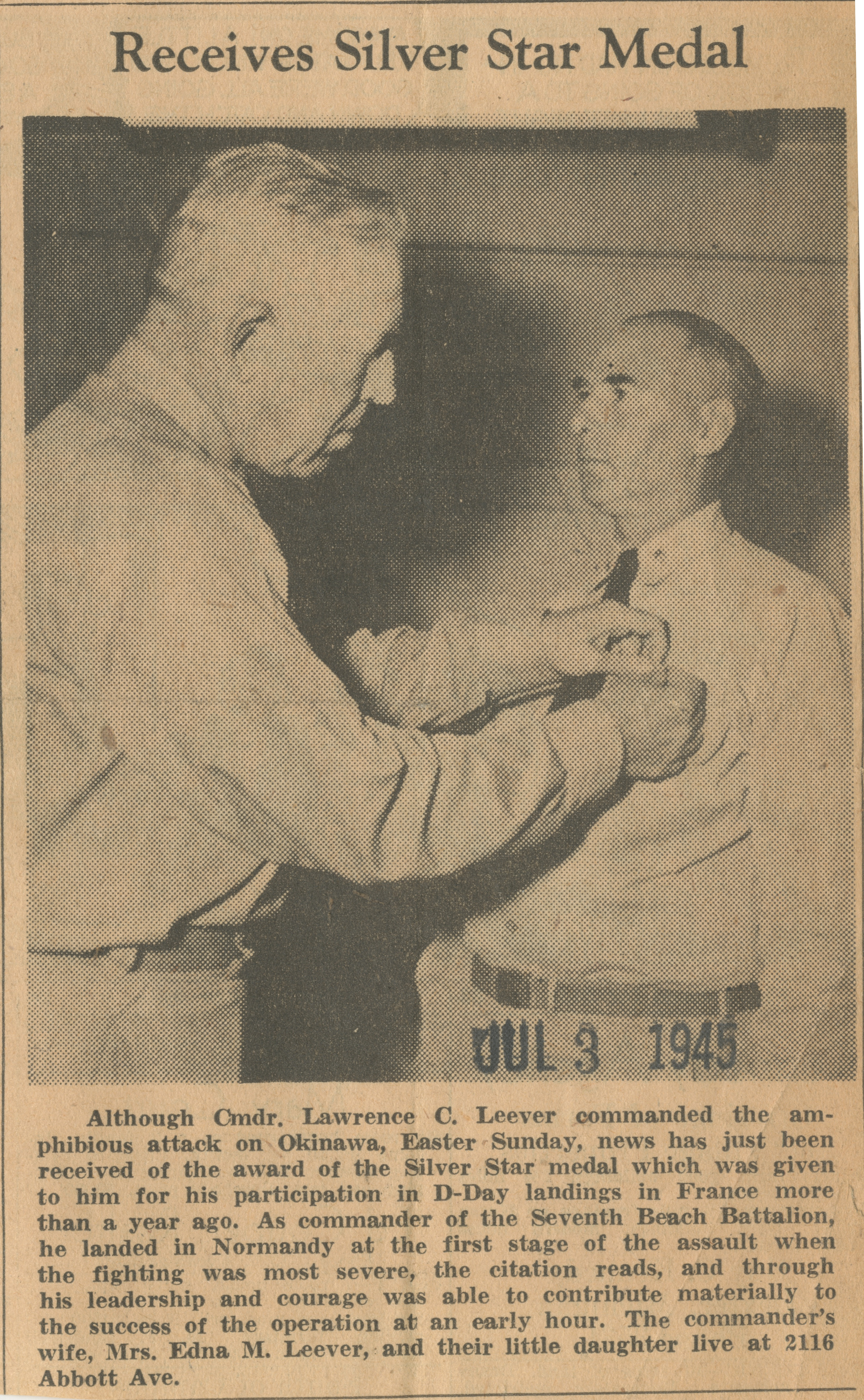 Receives Silver Star Medal image