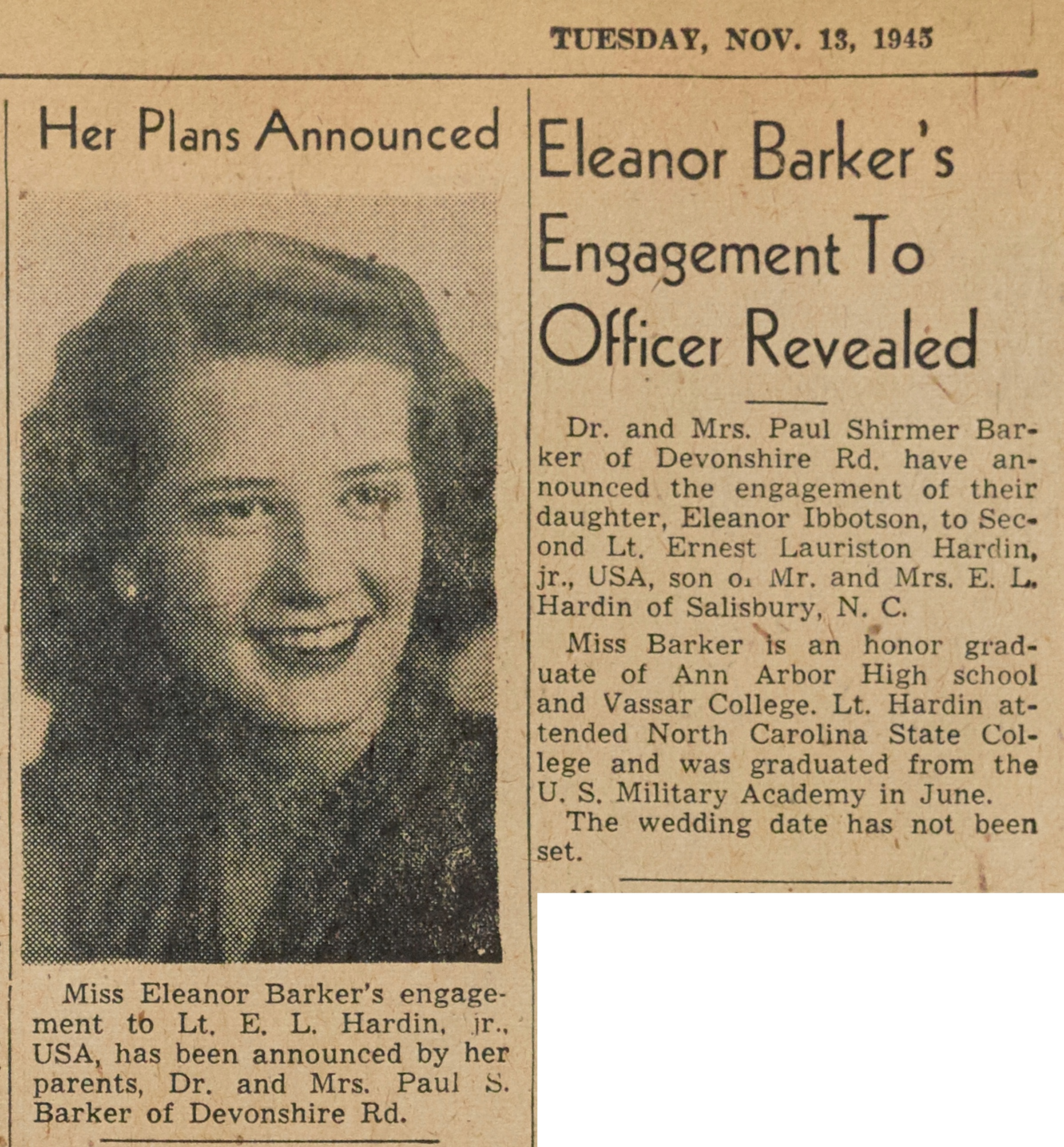 Eleanor Barker's Engagement To Officer Revealed image