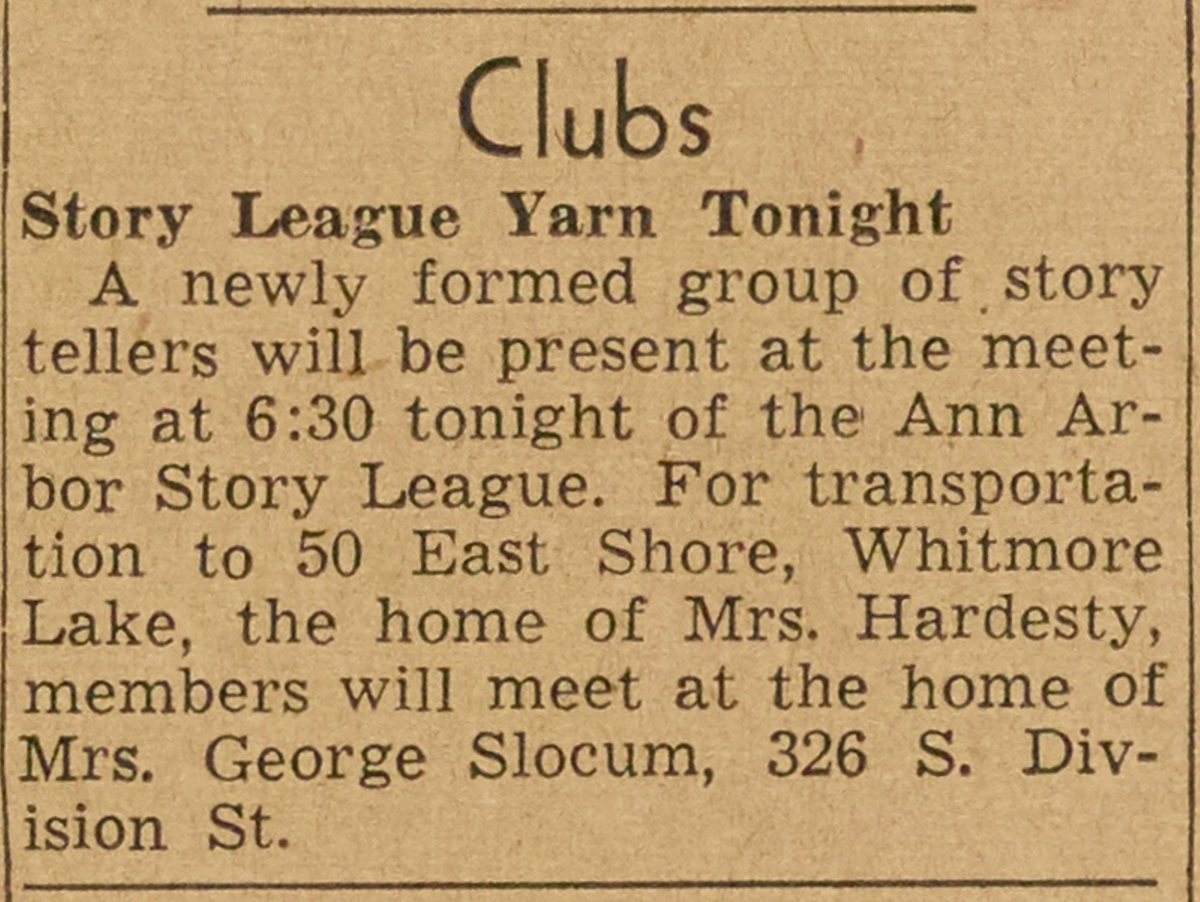 Clubs - Story League Yarn Tonight image
