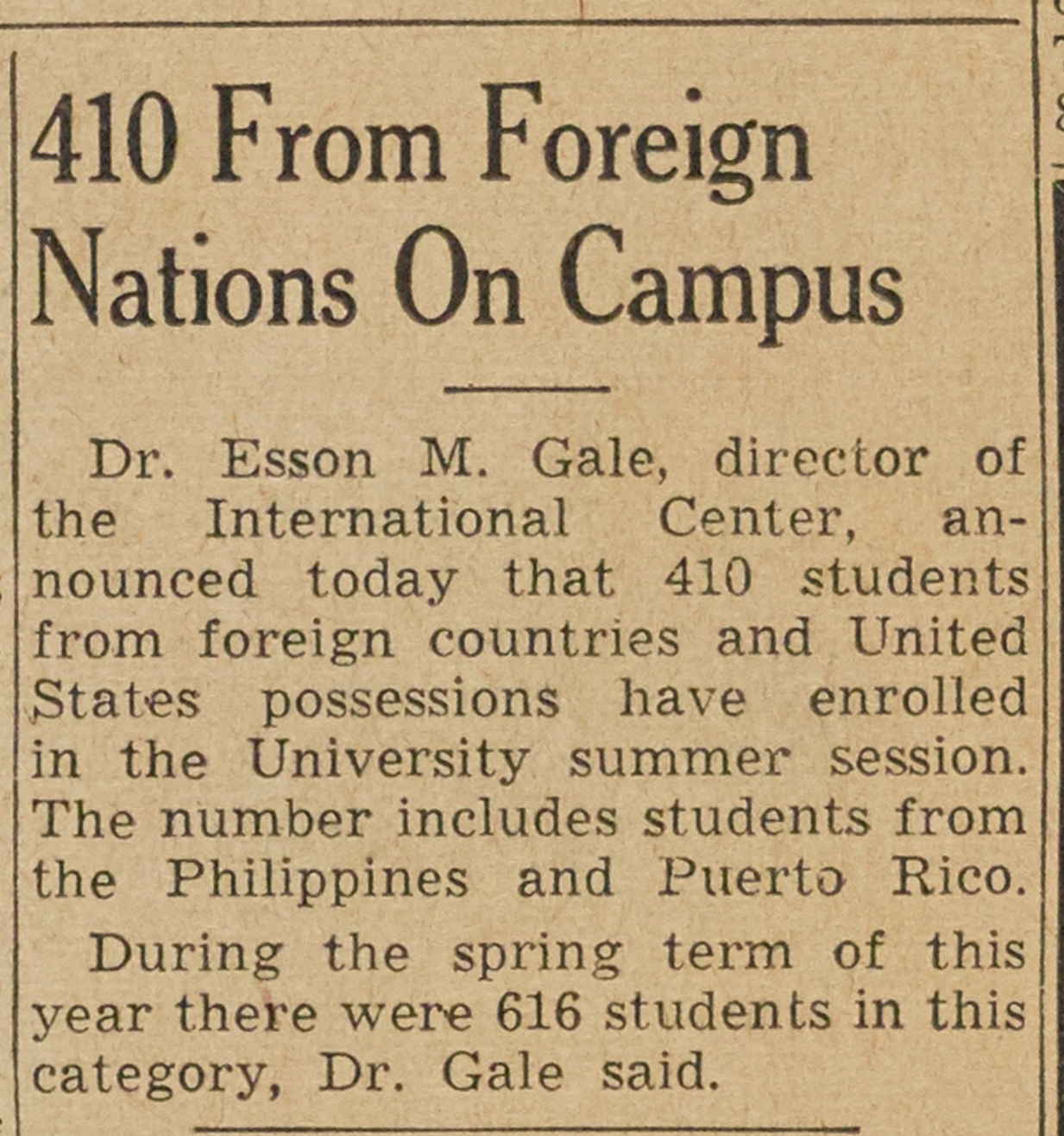 410 From Foreign Nations On Campus image