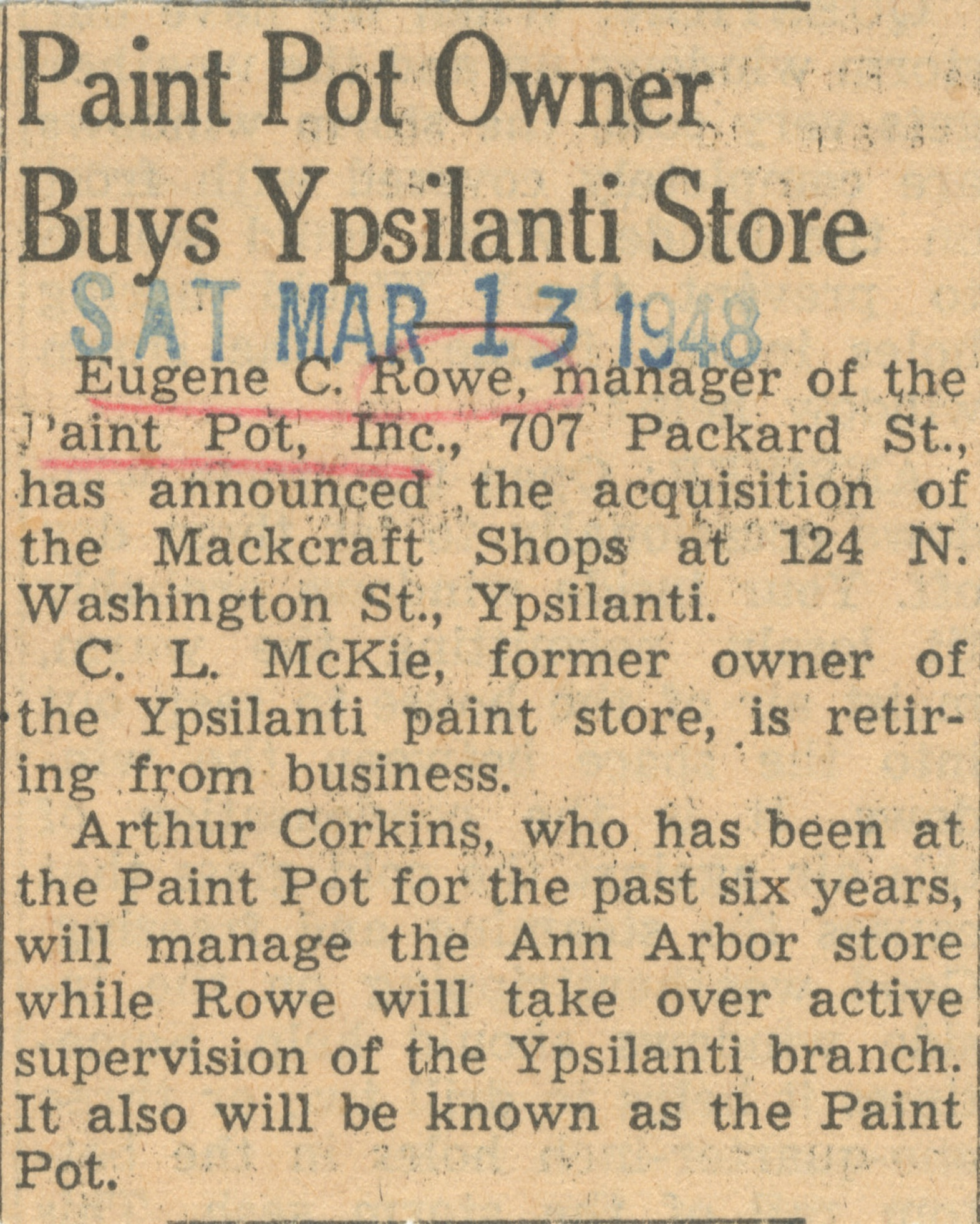 Paint Pot Owner Buys Ypsilanti Store image