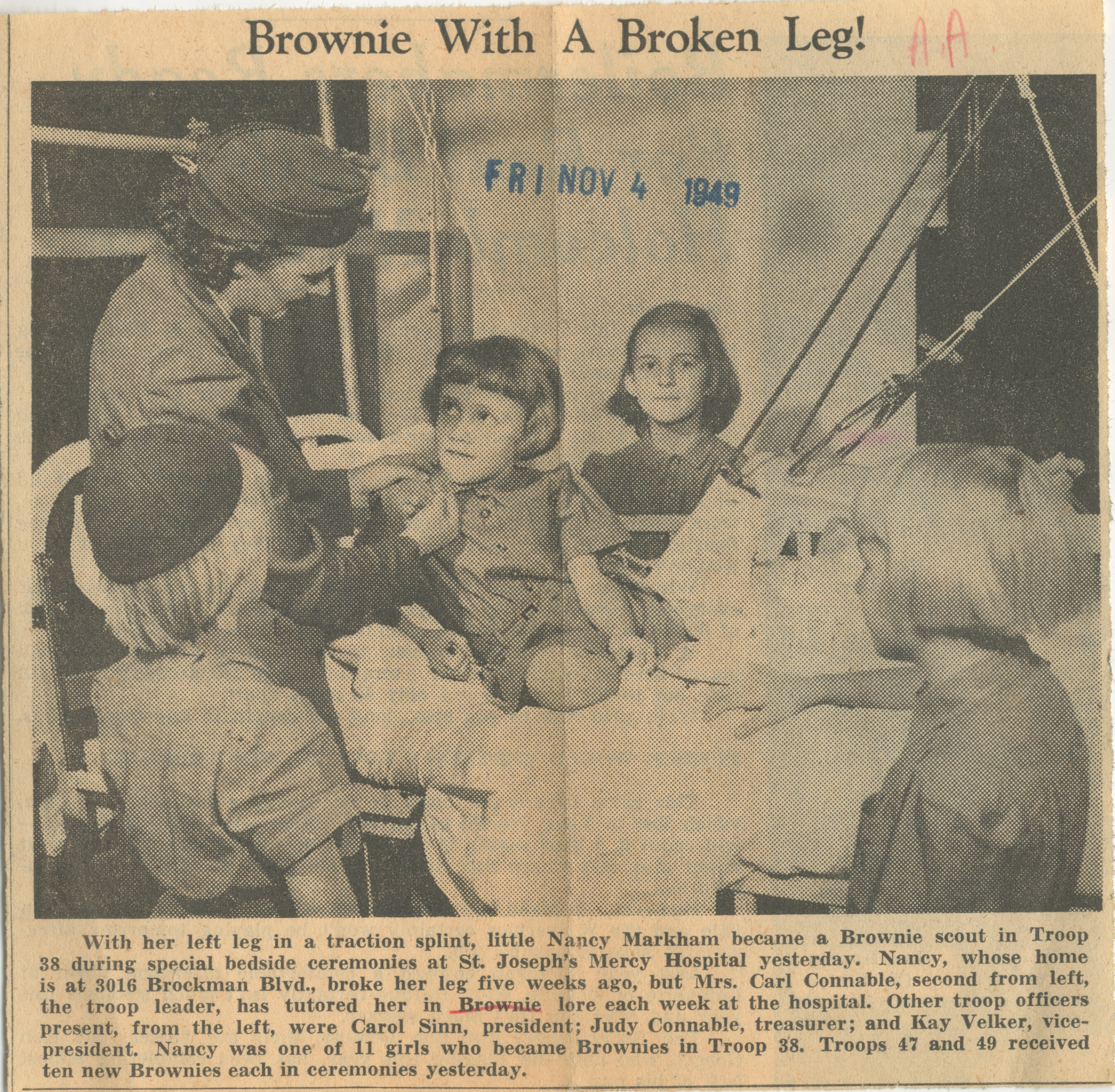 Brownie With A Broken Leg! image