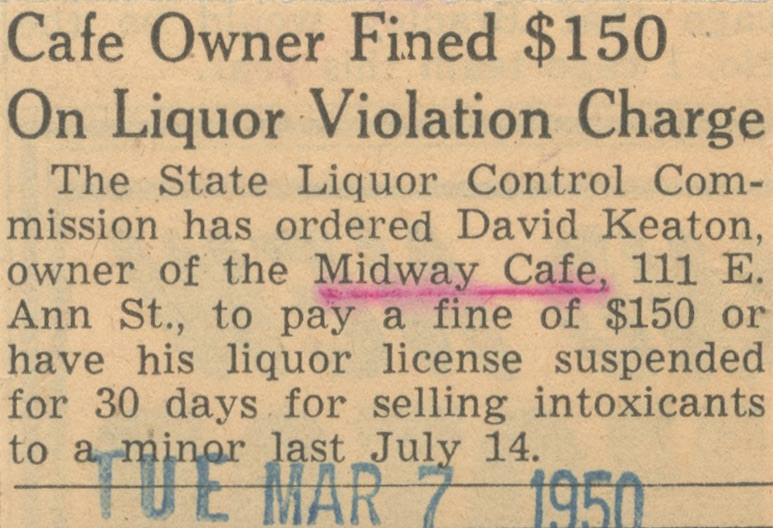 Cafe Owner Fined $150 On Liquor Violation Charge image