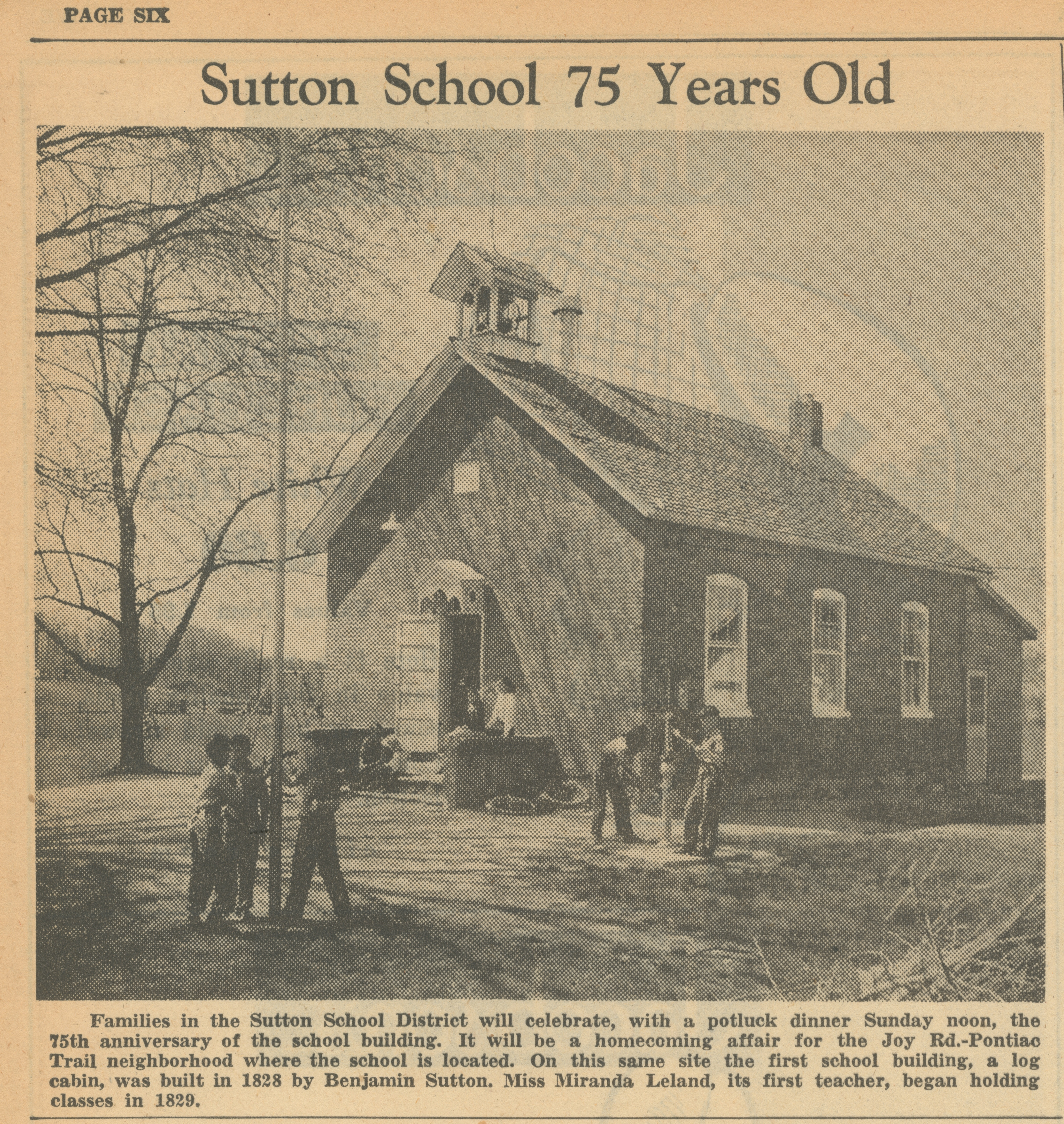 Sutton School 75 Years Old image