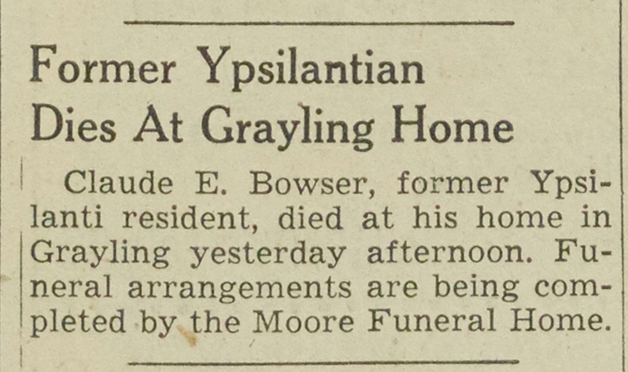 Former Ypsilantian Dies At Grayling Home image