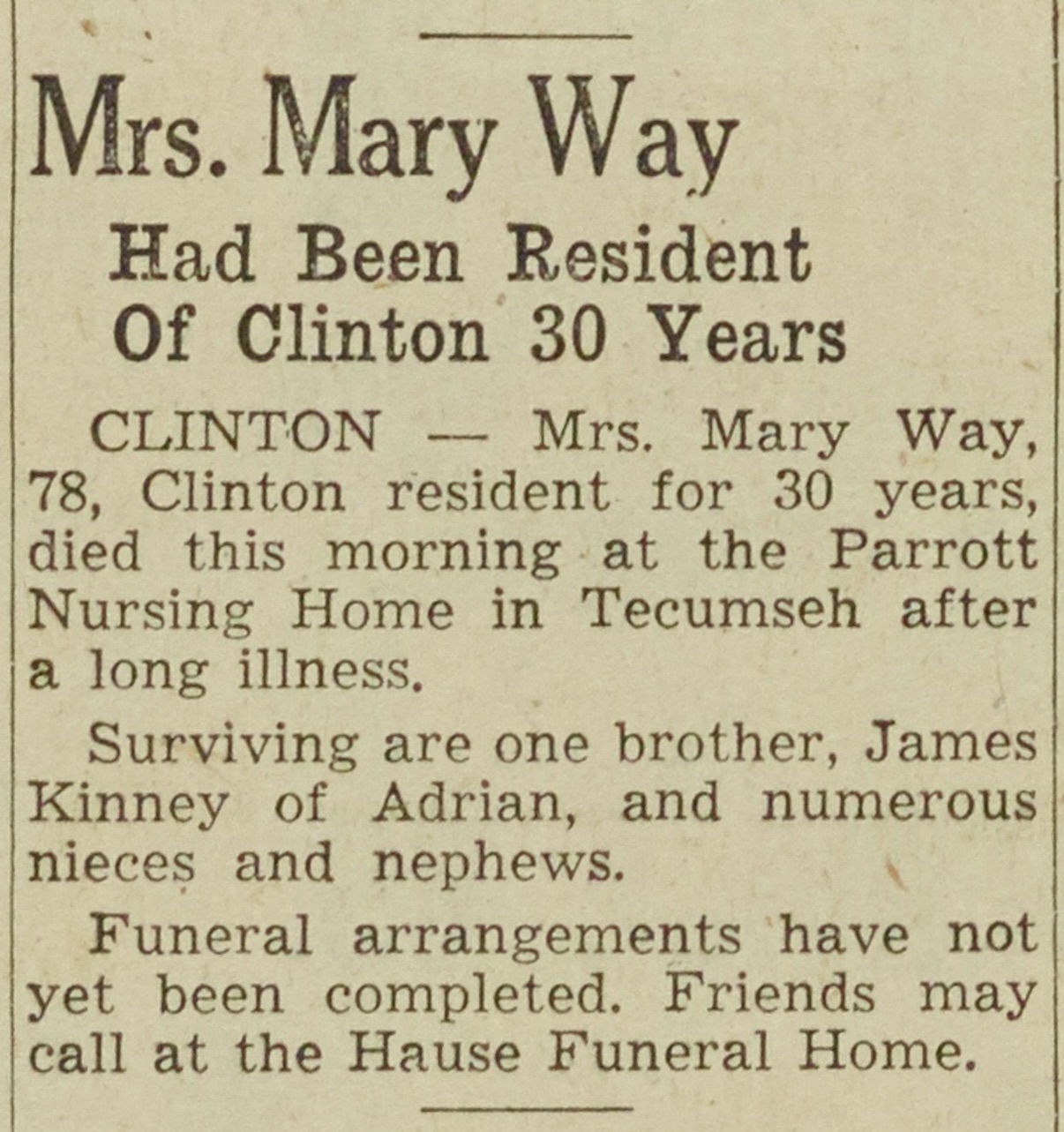 Mrs. Mary Way image