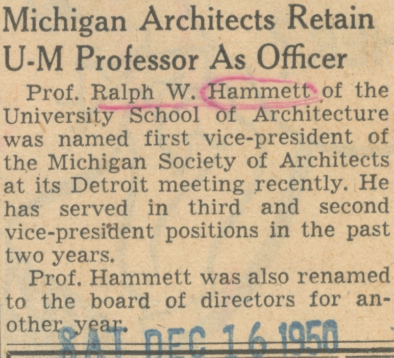 Michigan Architects Retain U-M Professor As Officer image