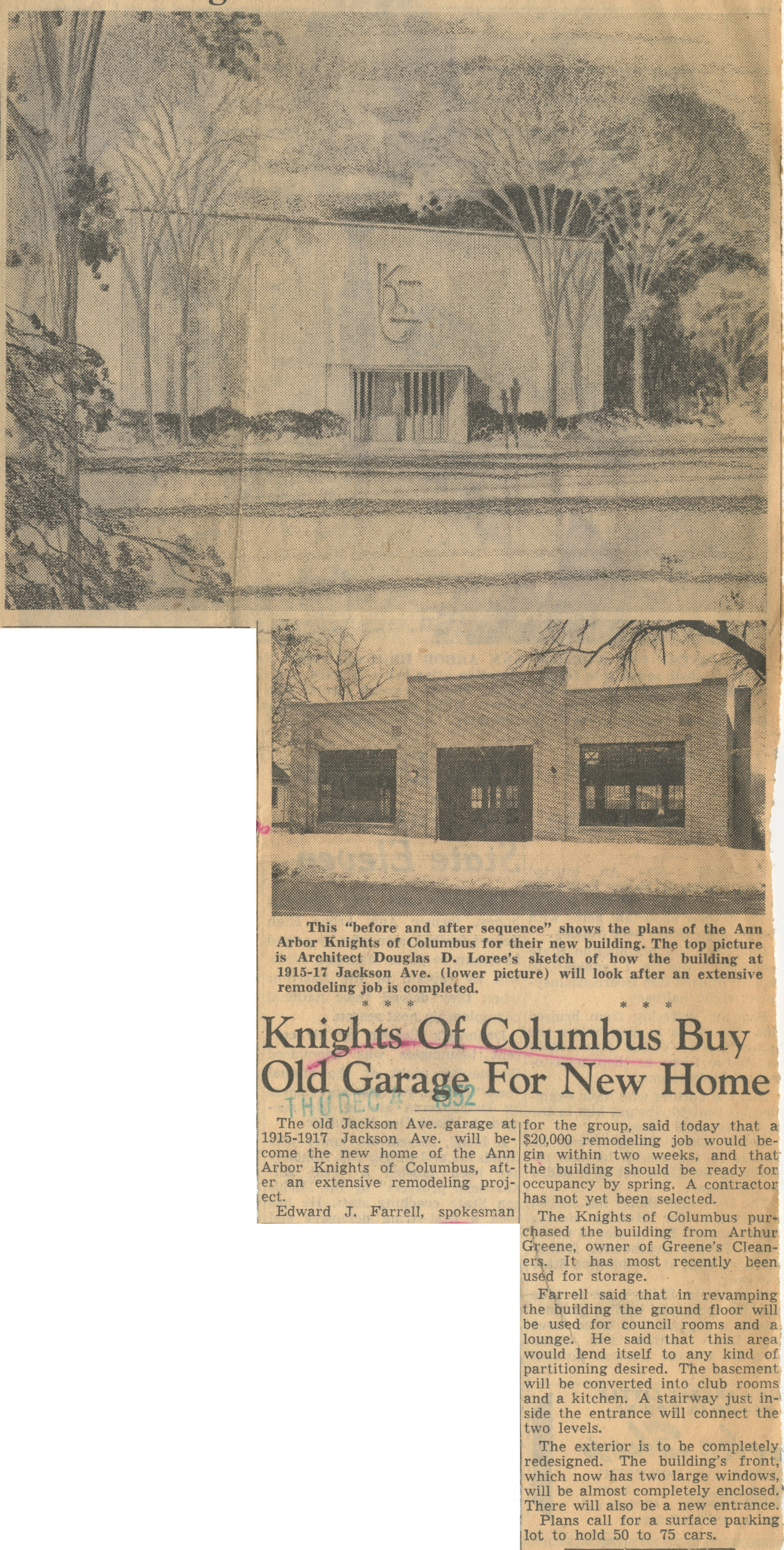 Knights Of Columbus Buy Old Garage For New Home image
