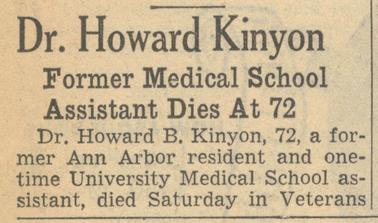 Dr. Howard Kinyon image