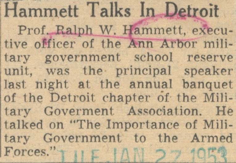 Hammett Talks In Detroit image