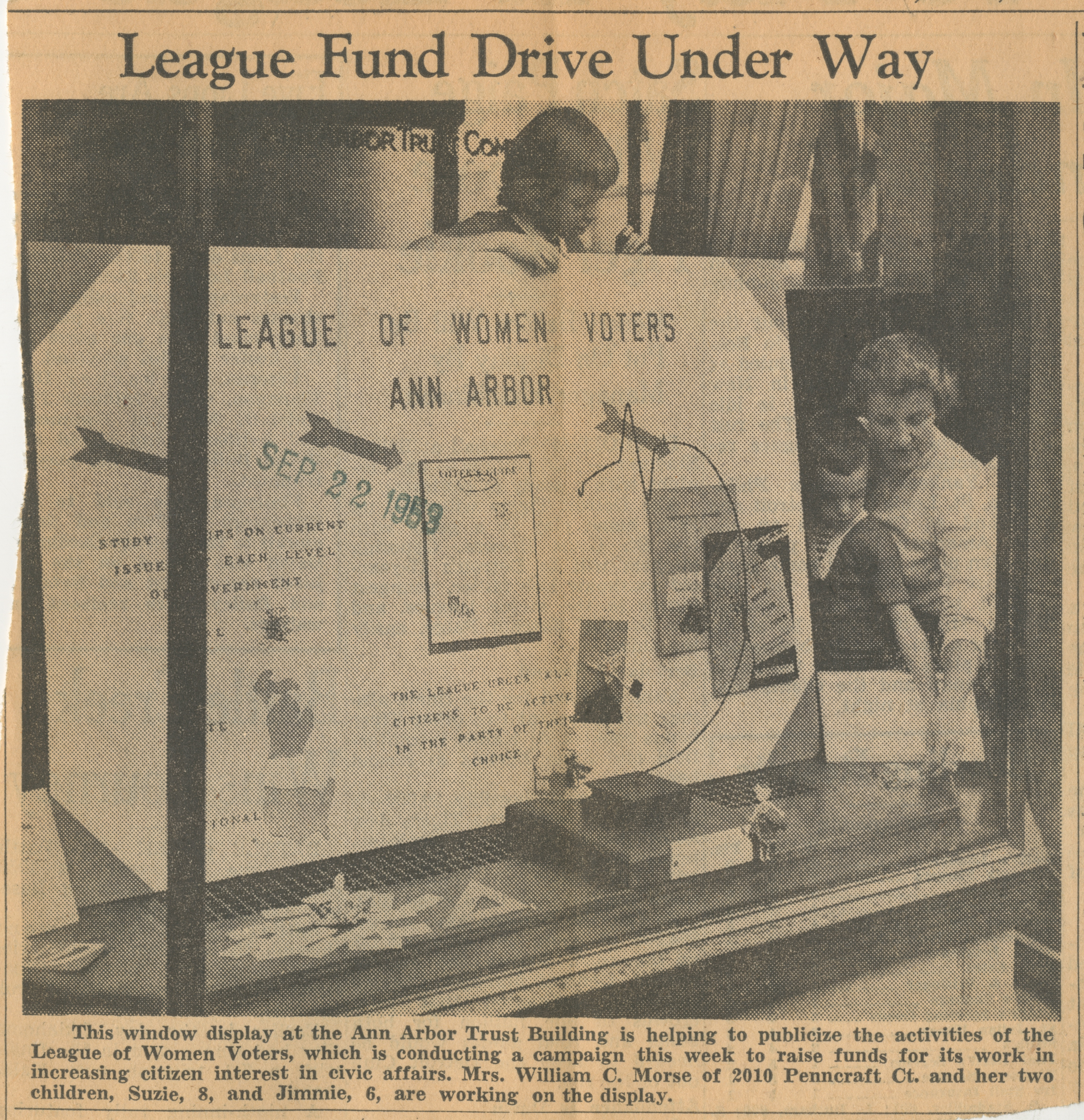 League Fund Drive Under Way image