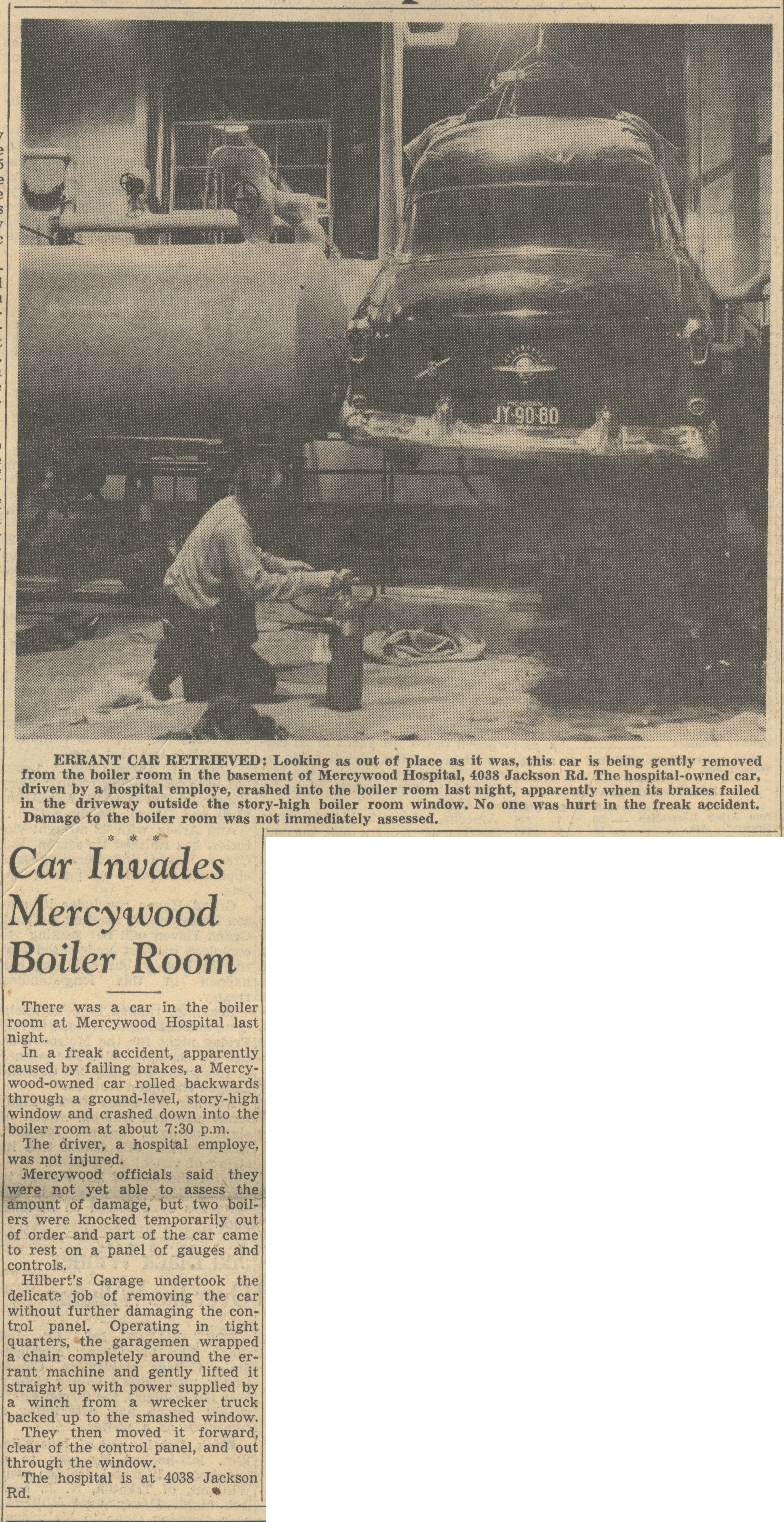 Car Invades Mercywood Boiler Room image