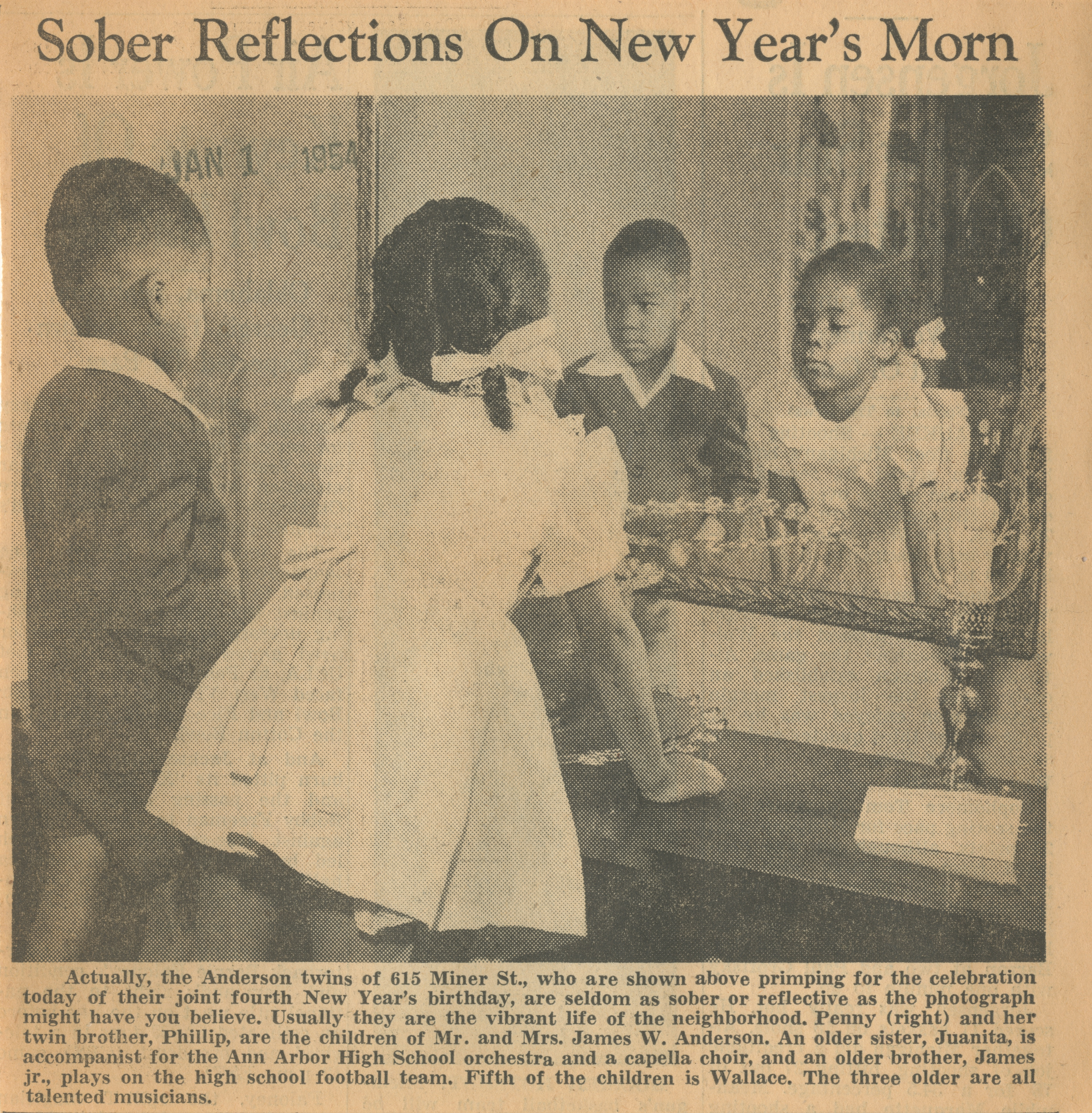 Sober Reflections On New Year's Morn image