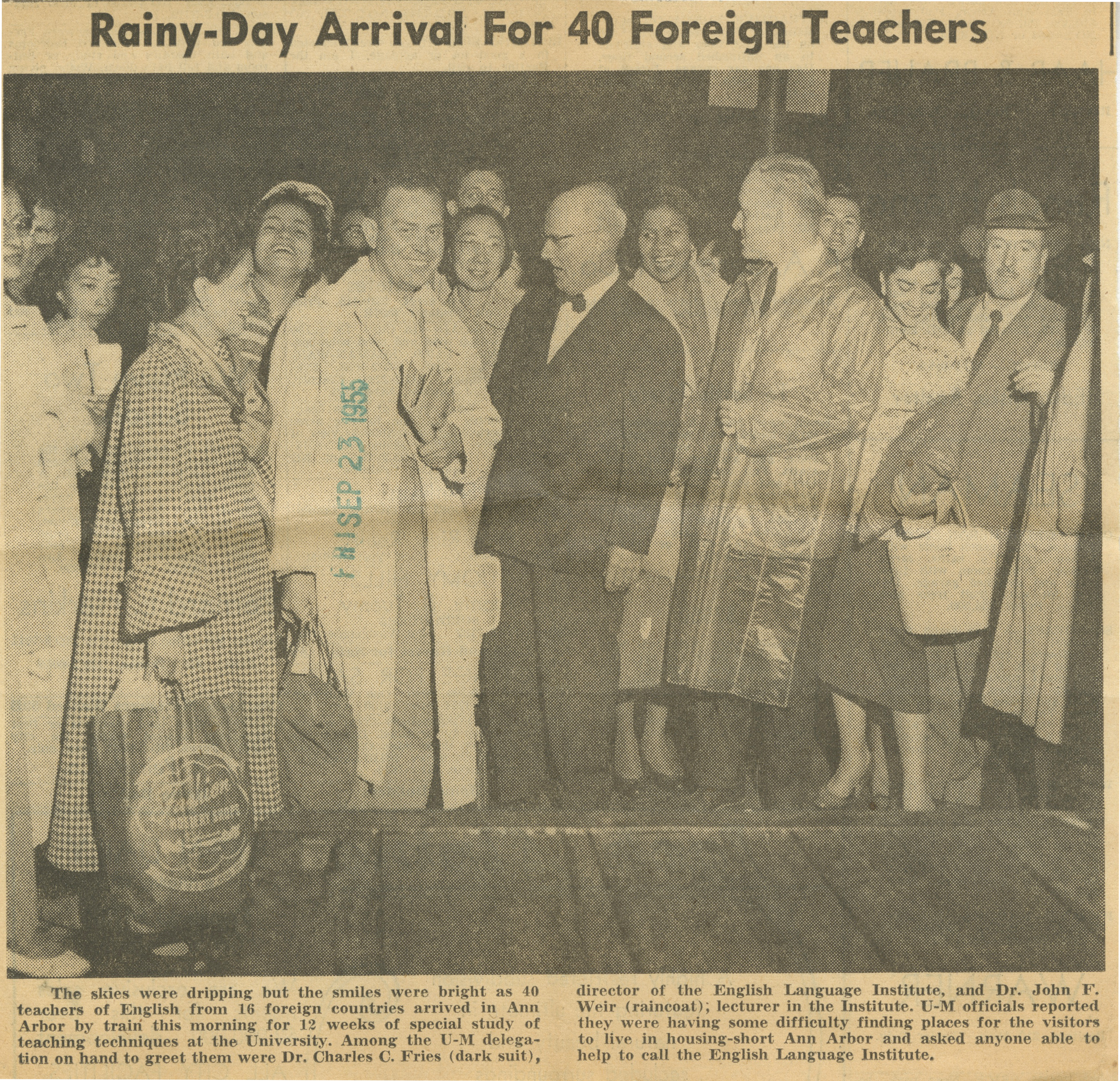 Rainy-Day Arrival For 40 Foreign Teachers image