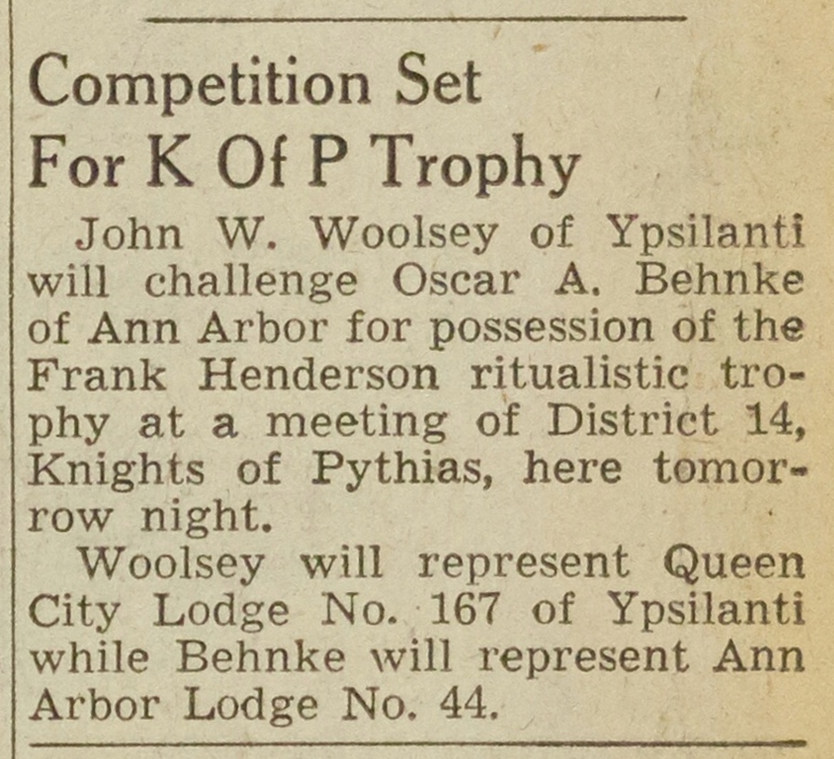 Competition Set For K Of P Trophy image
