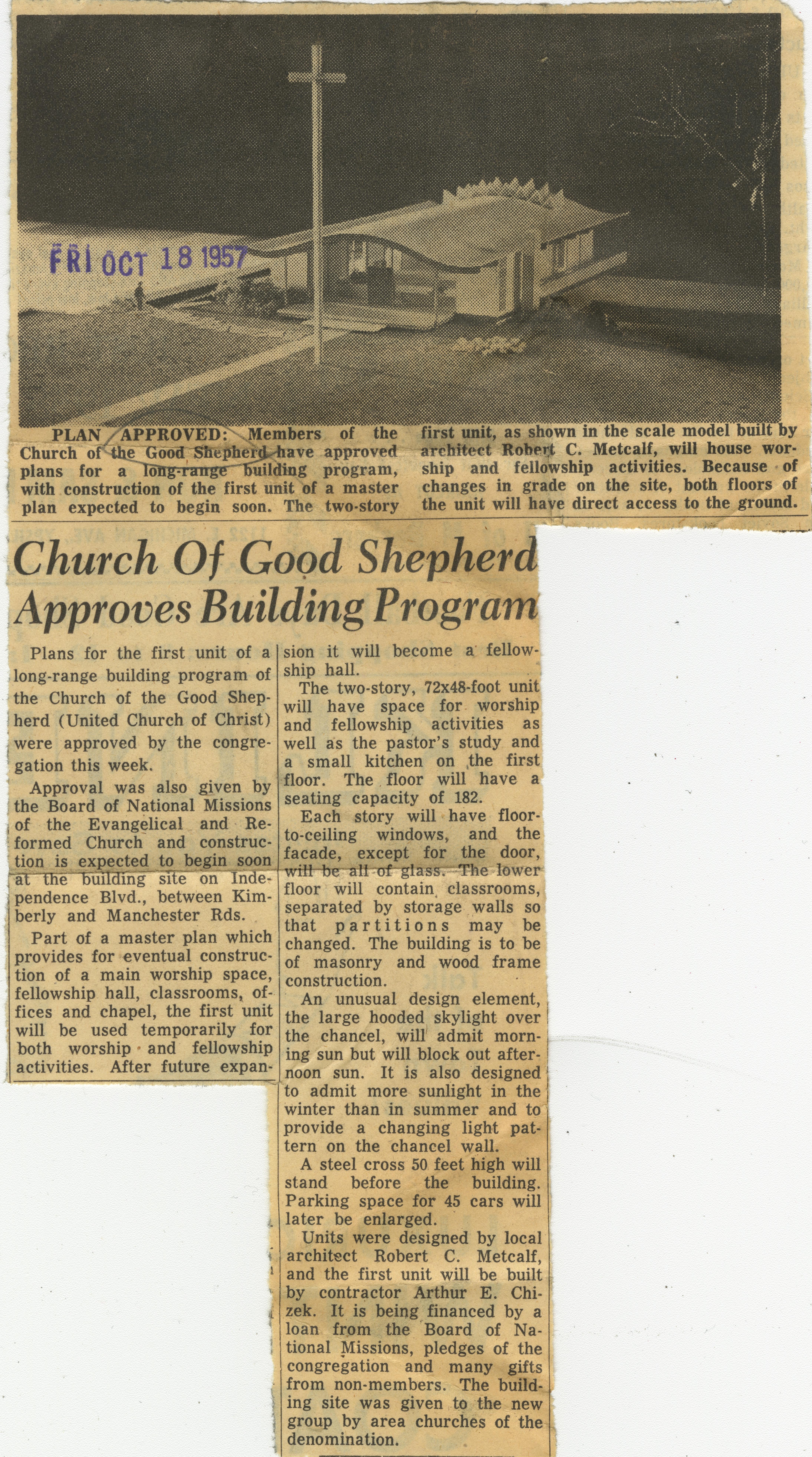 church of good shepherd approved building program ann arbor