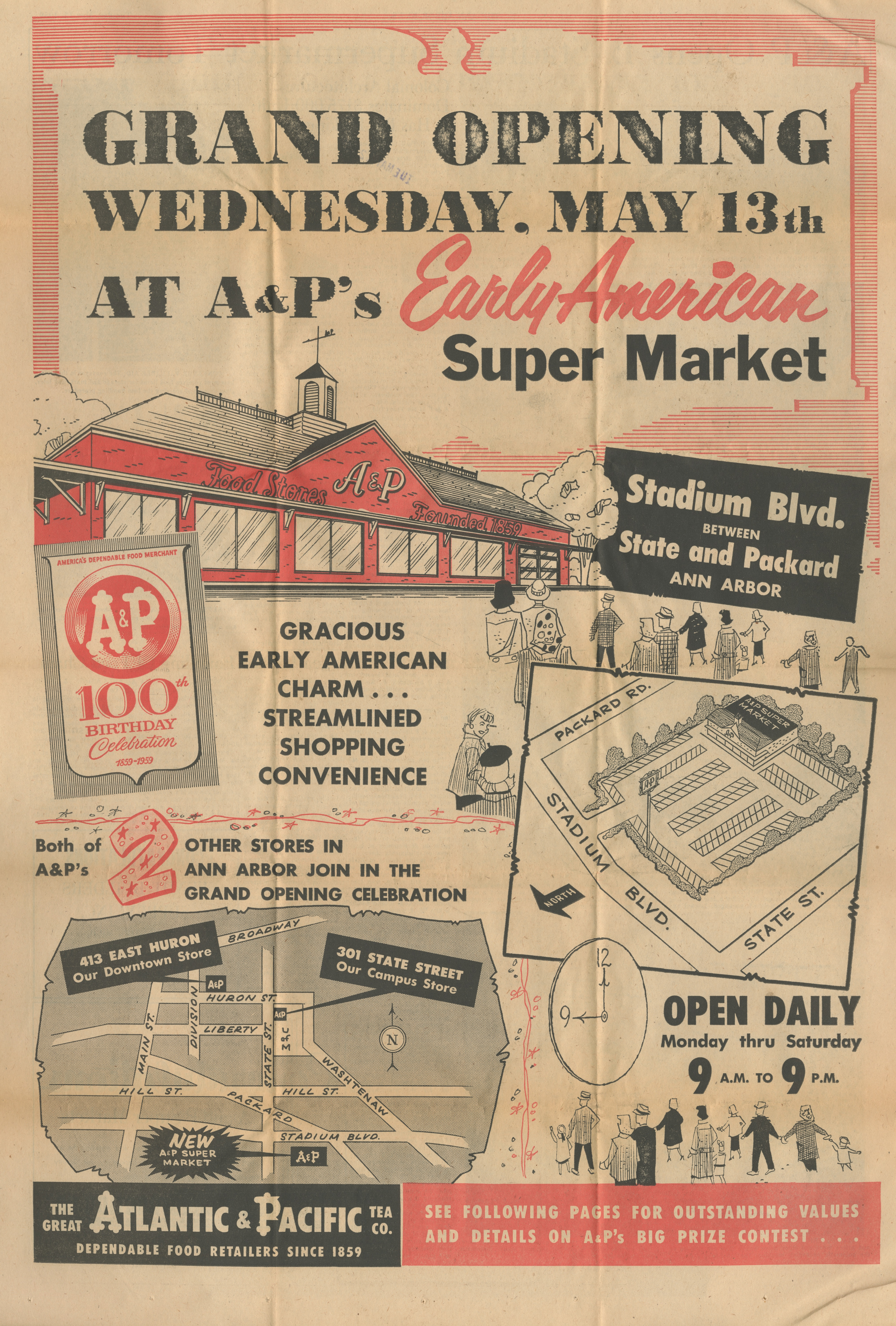 Grand Opening At A& P's Early American Super Market image