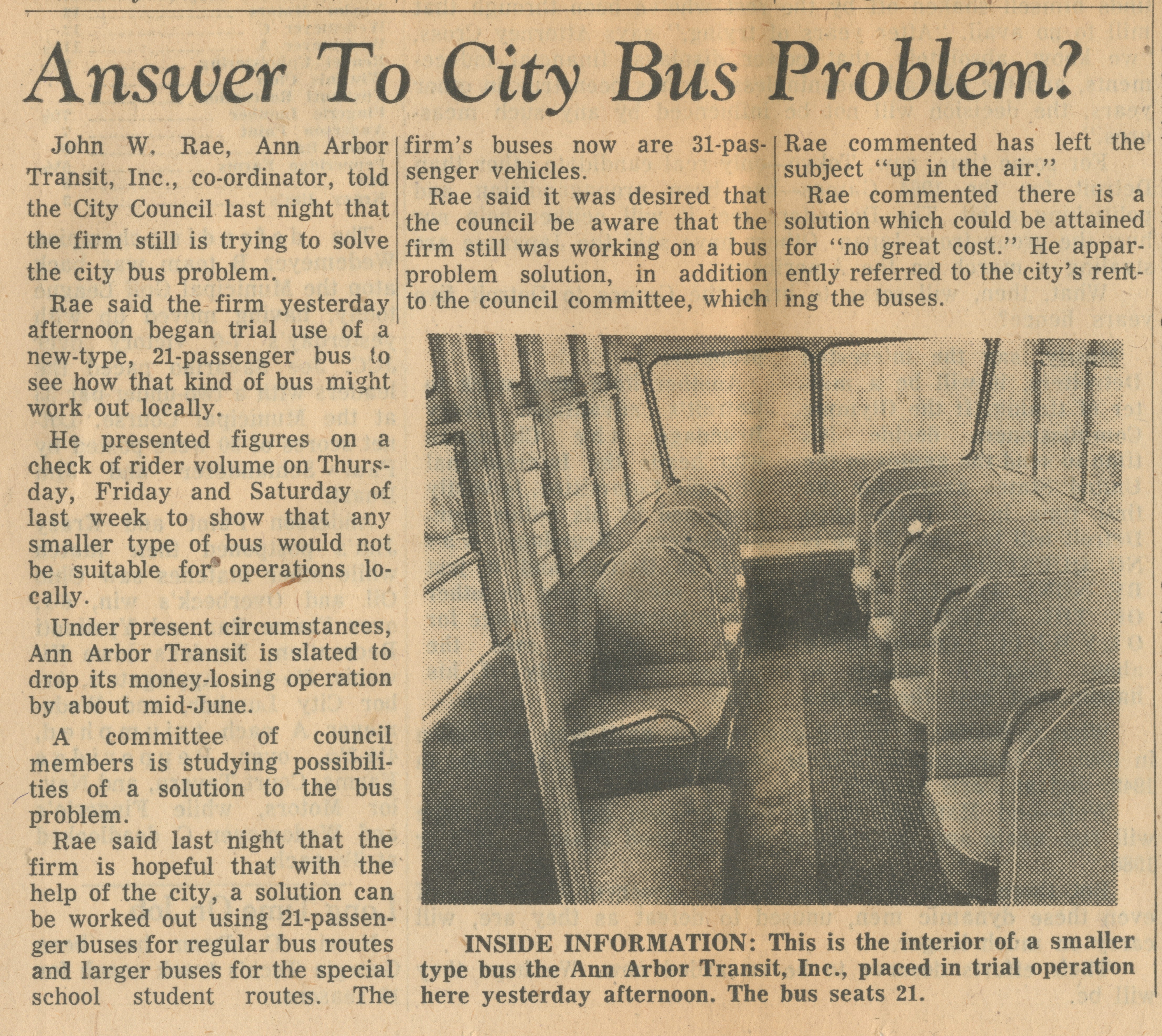 Answer To City Bus Problem? image