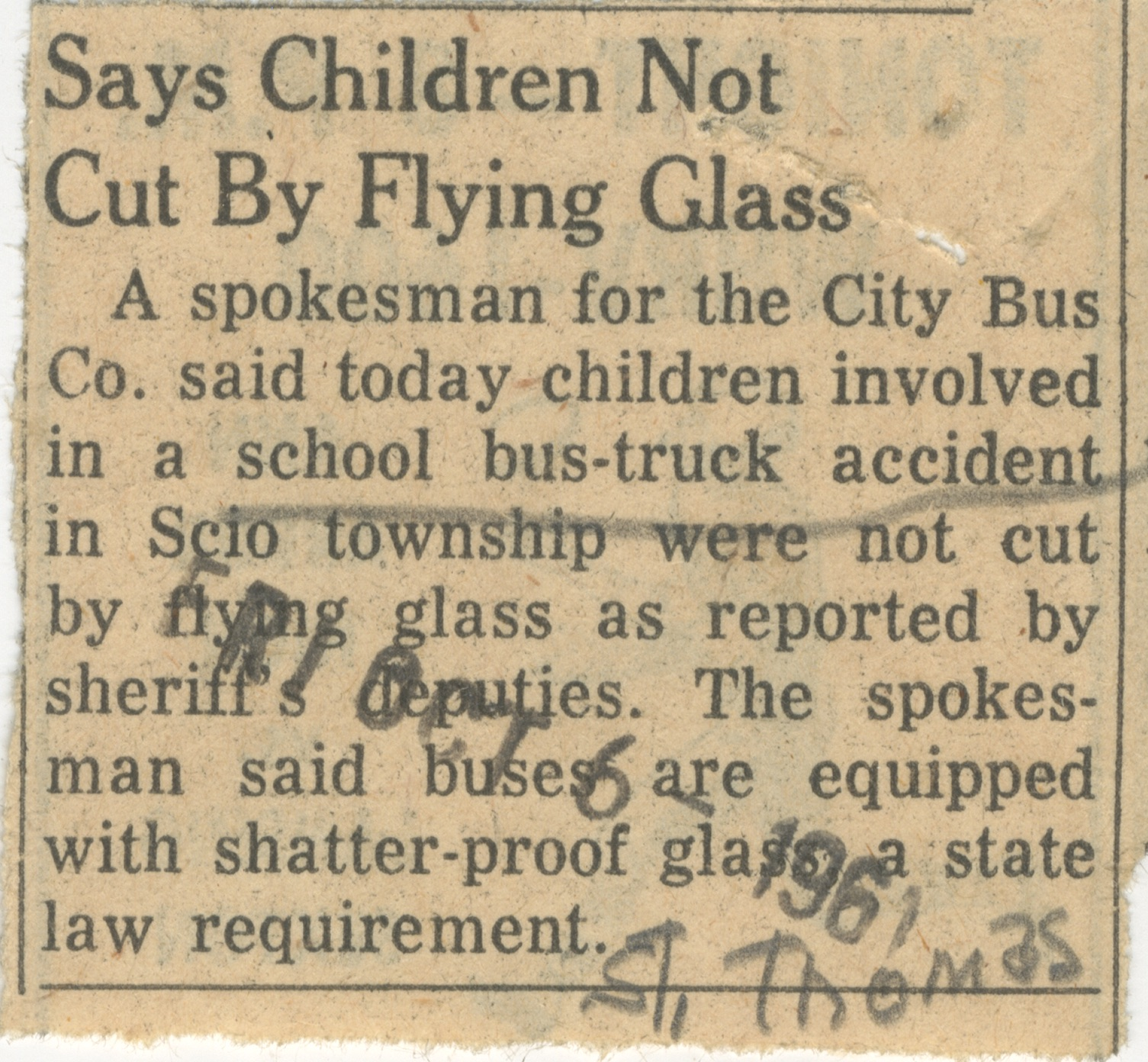 Says Children Not Cut By Flying Glass image