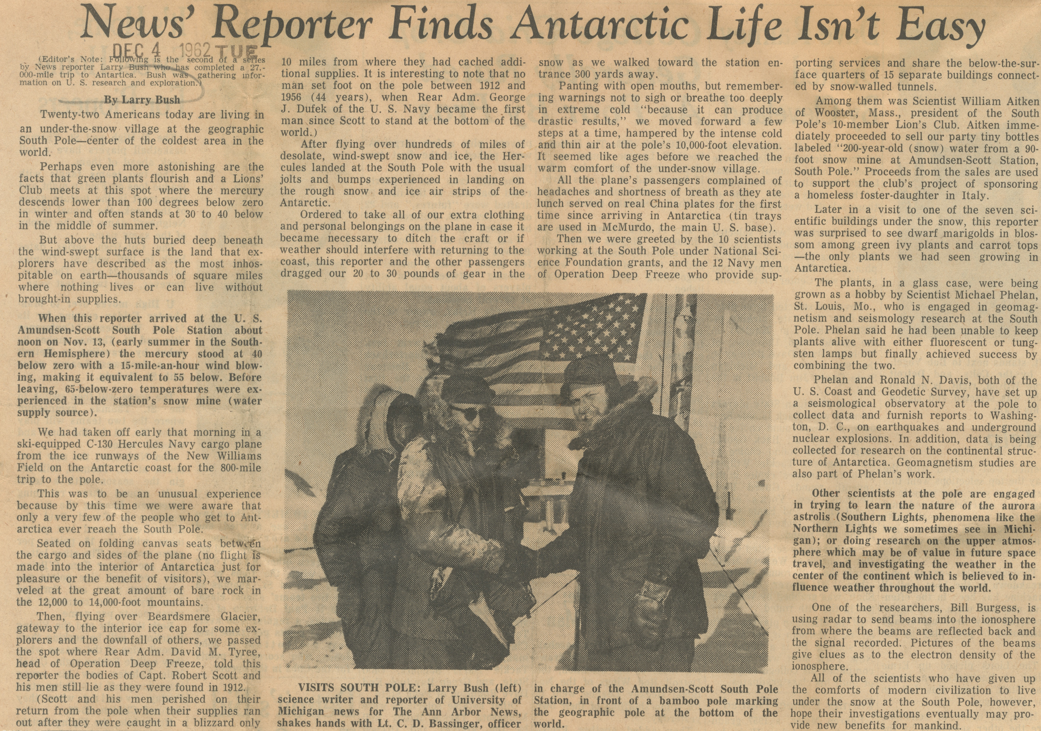 News' Reporter Finds Antarctic Life Isn't Easy image
