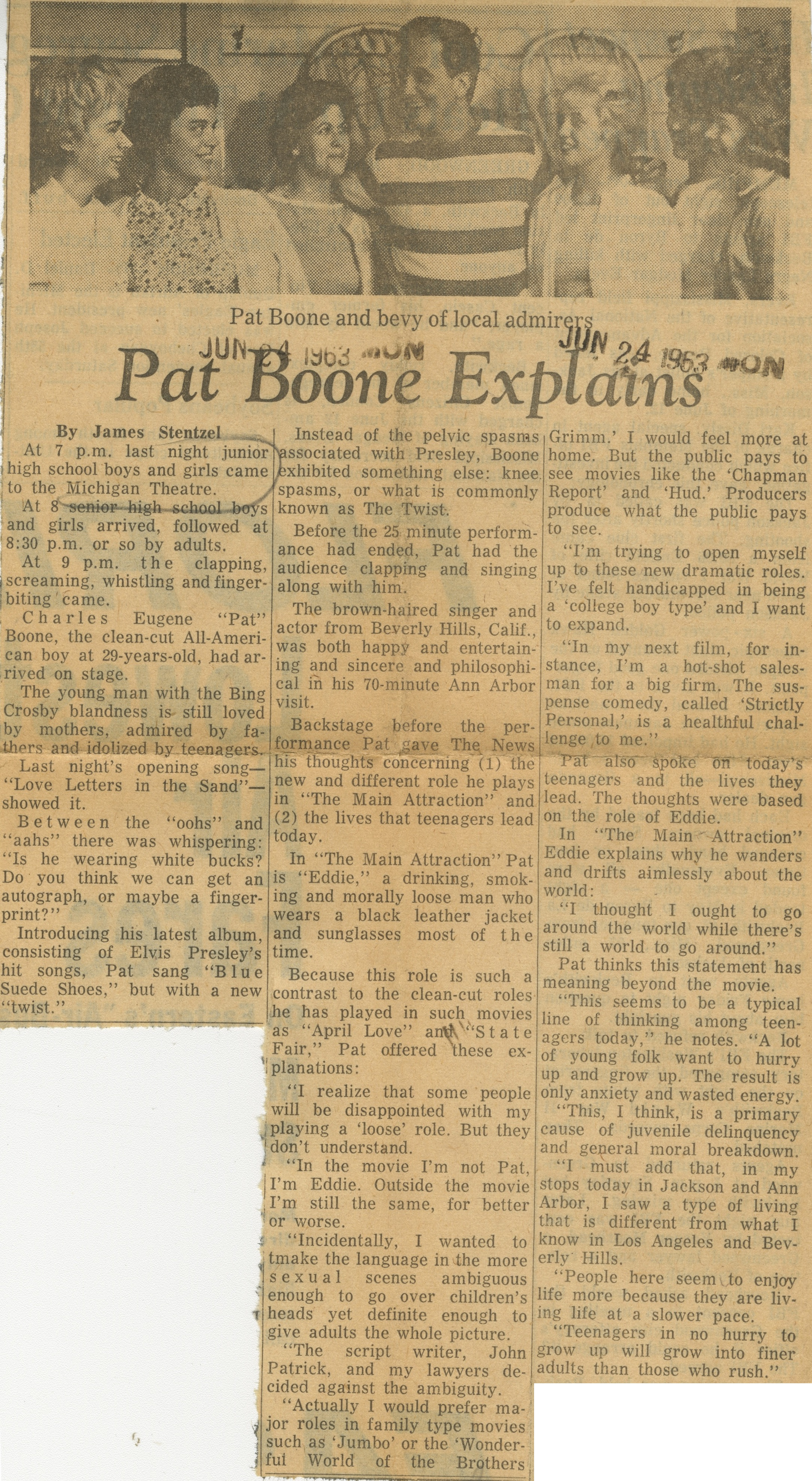 Pat Boone Explains image