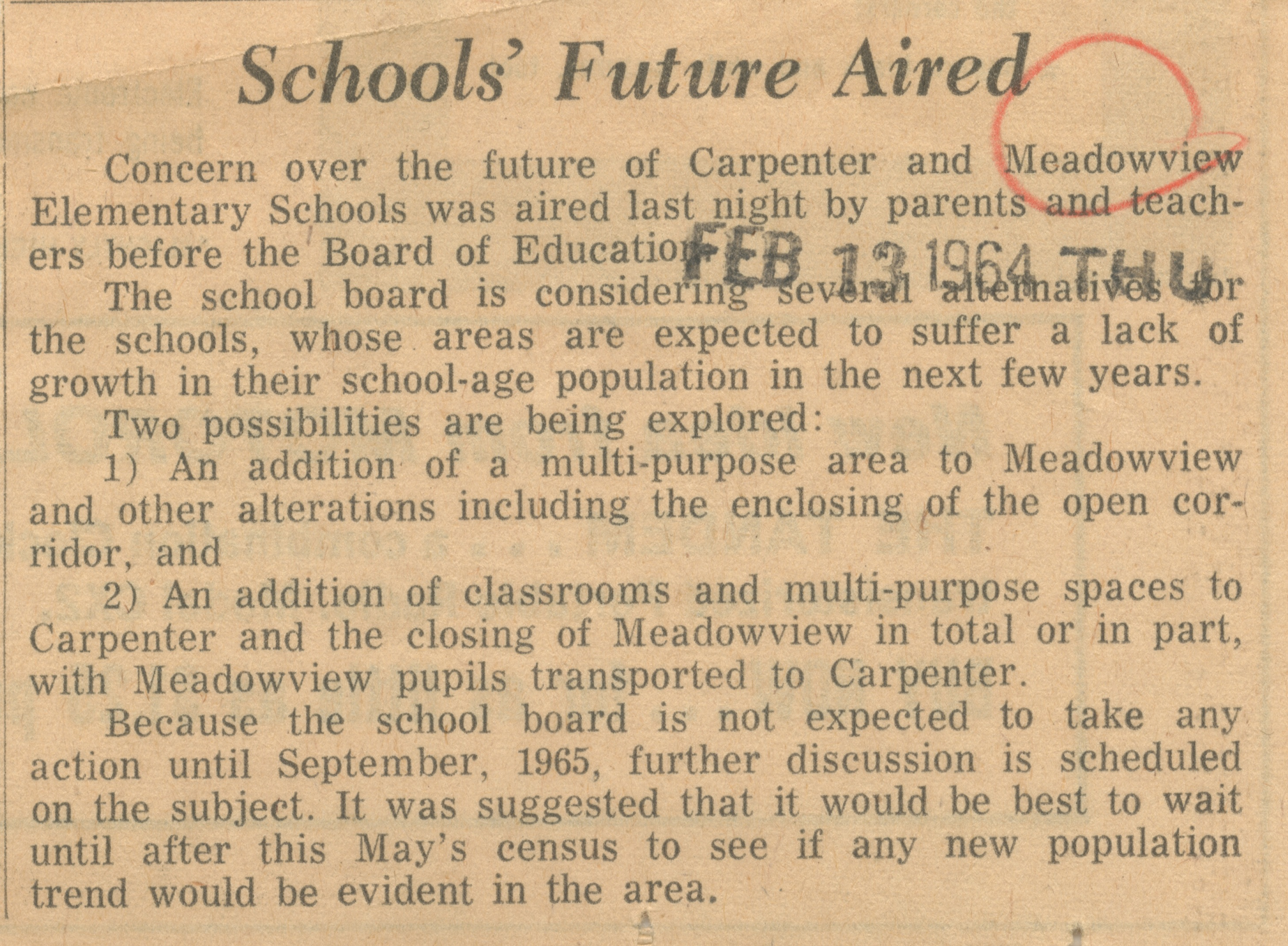 Schools' Future Aired image