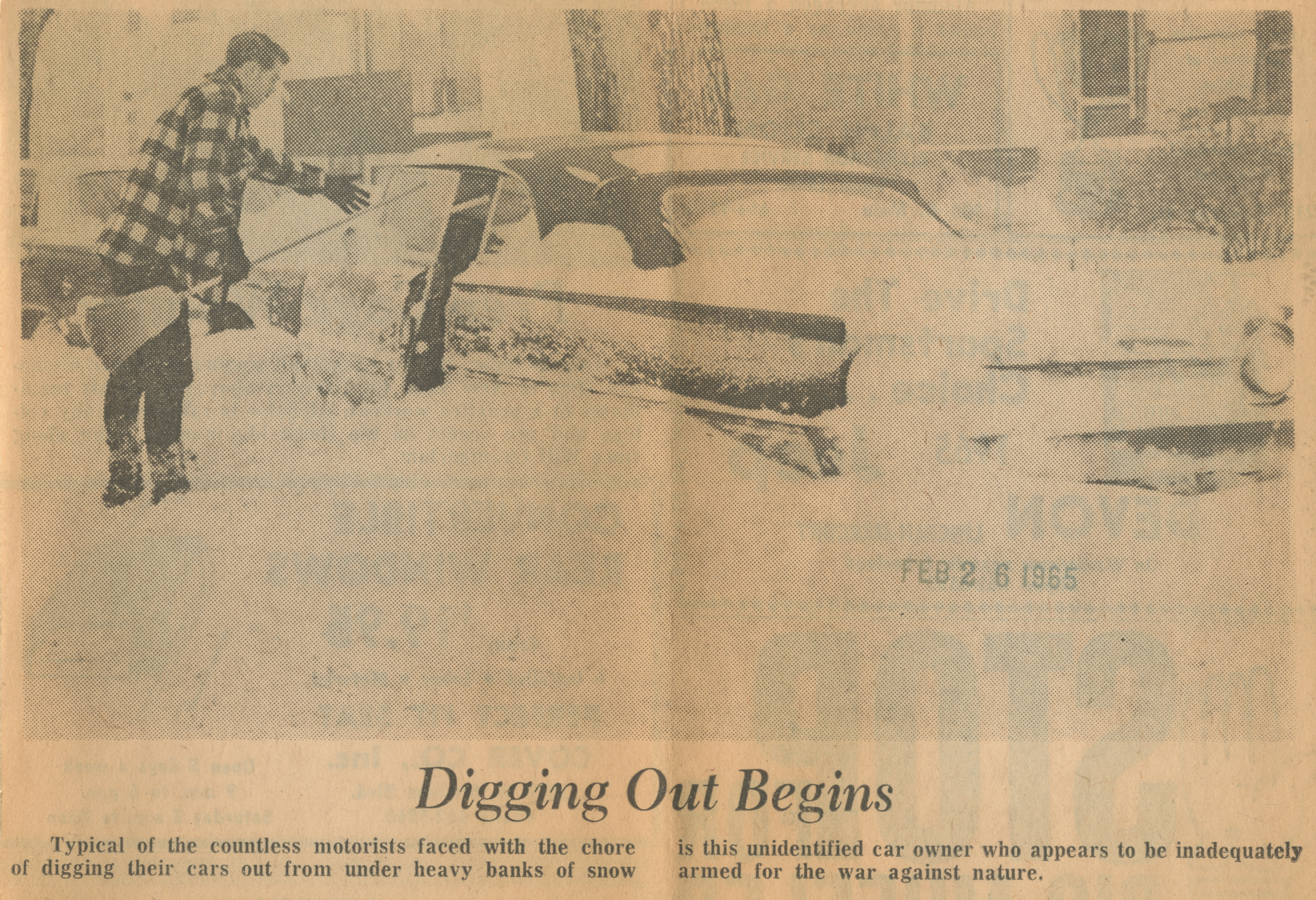 Digging Out Begins image