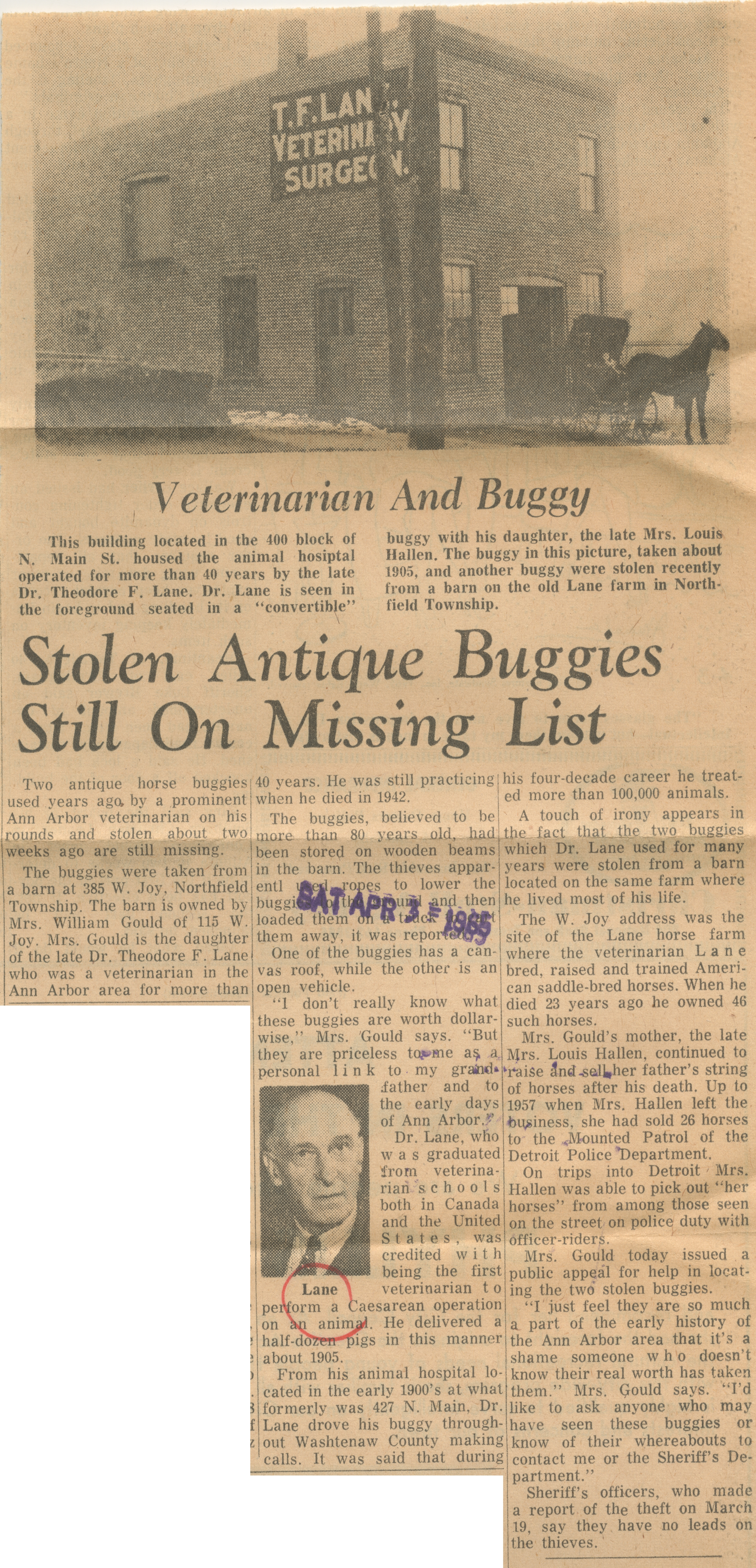 Stolen Antique Buggies Still On Missing List image