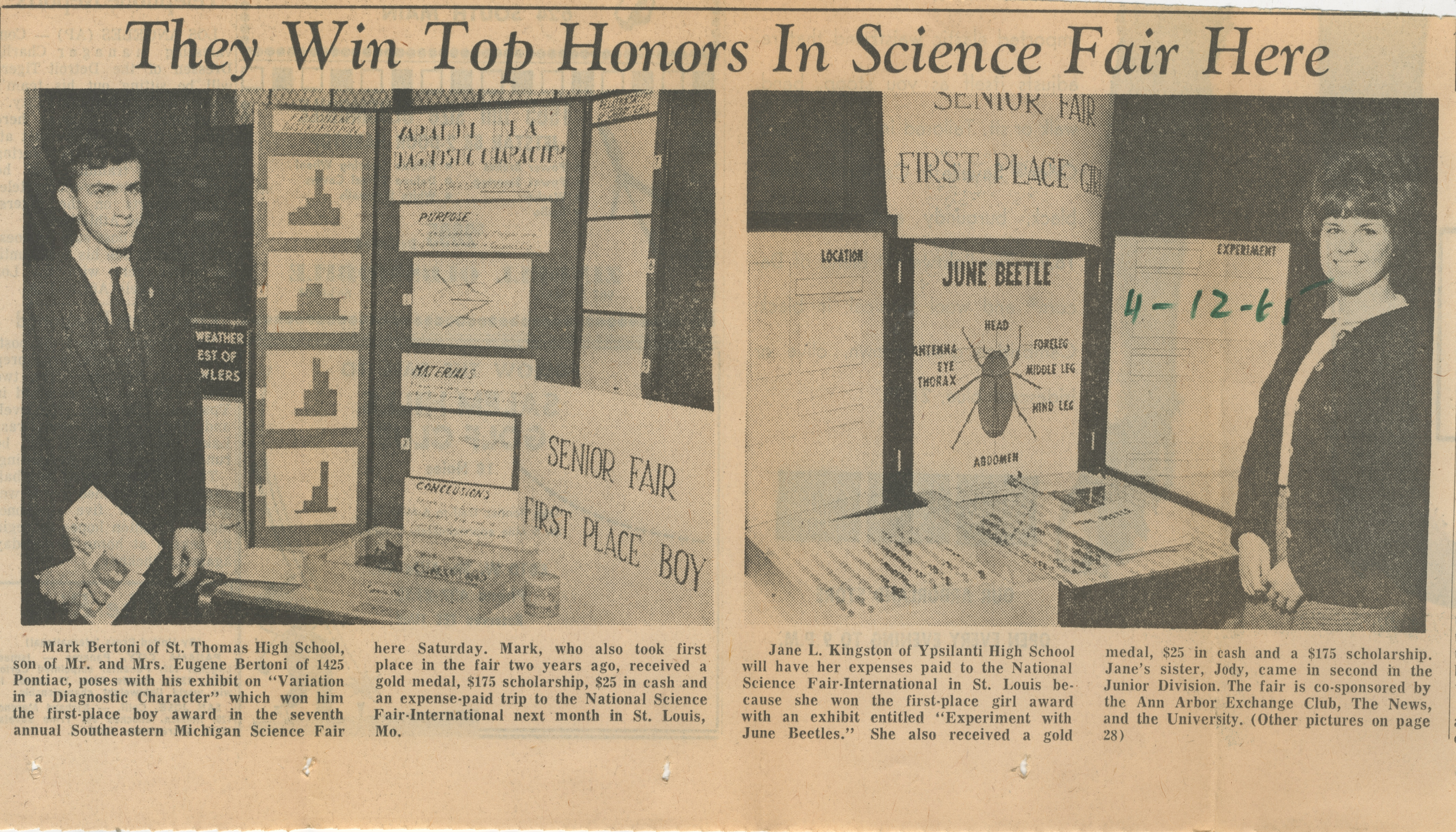 They Win Top Honors In Science Fair Here image
