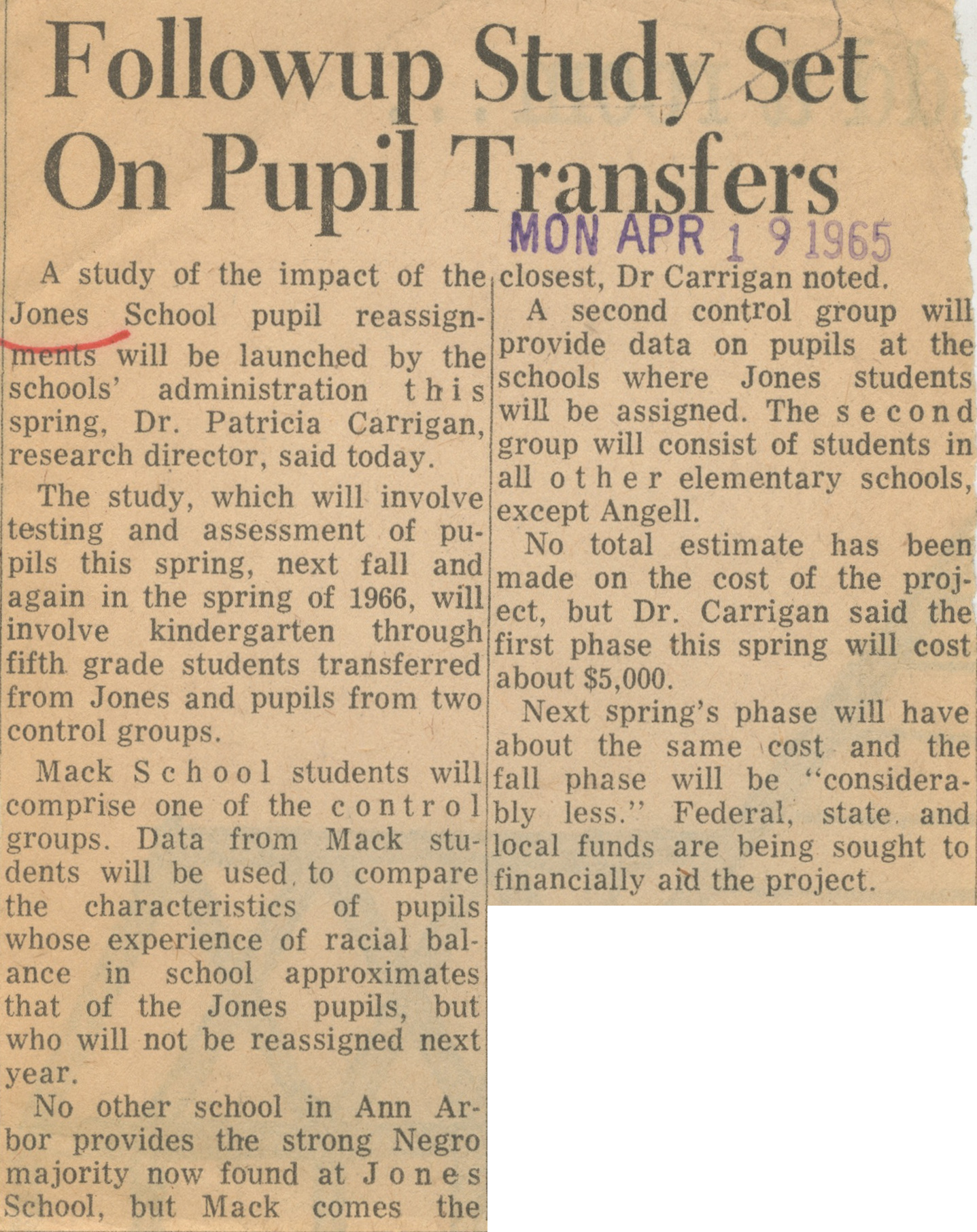 Followup Study Set On Pupil Transfers image