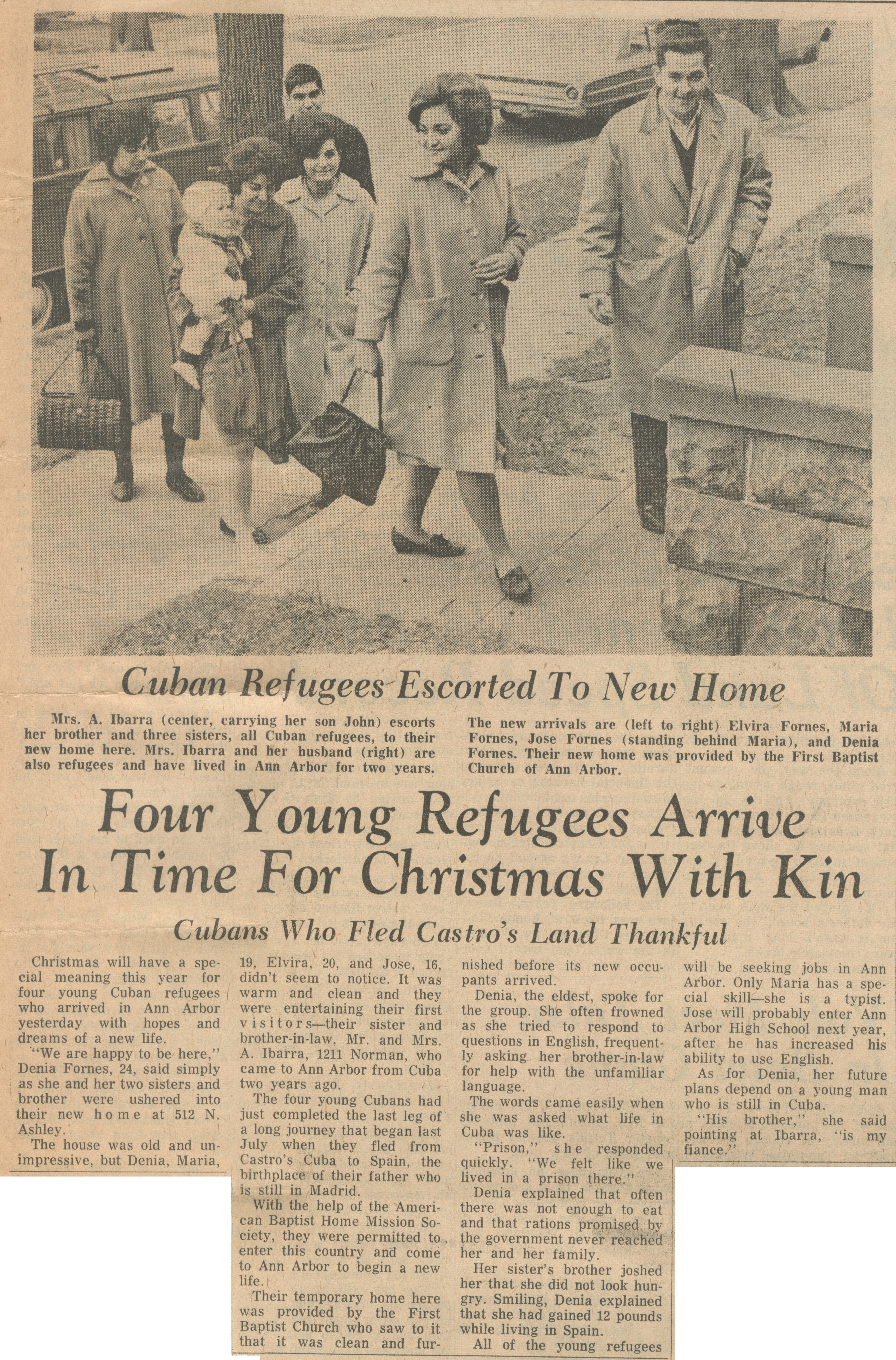 Four Young Refugees Arrive In Time For Christmas With Kin image