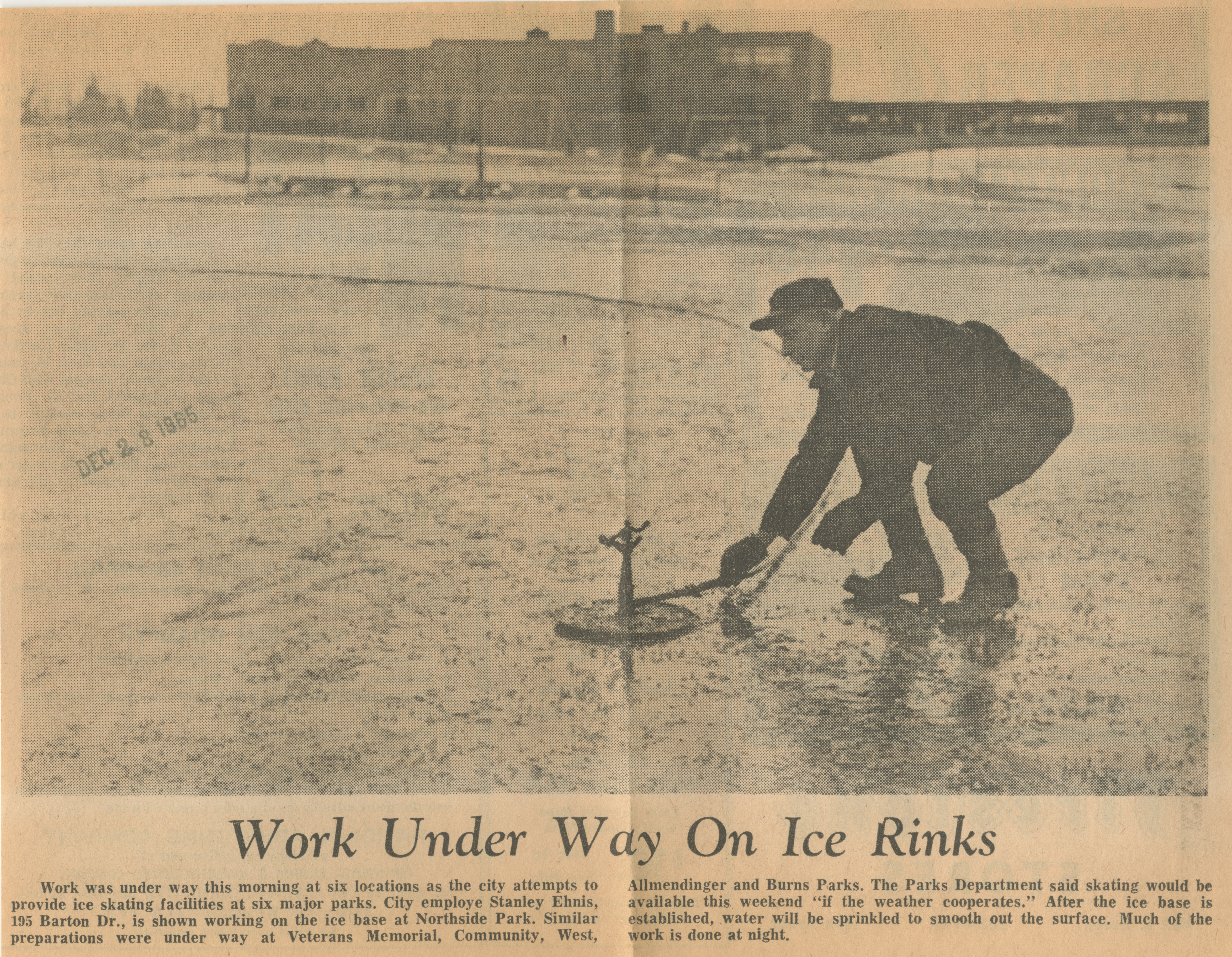 Work Under Way On Ice Rinks image