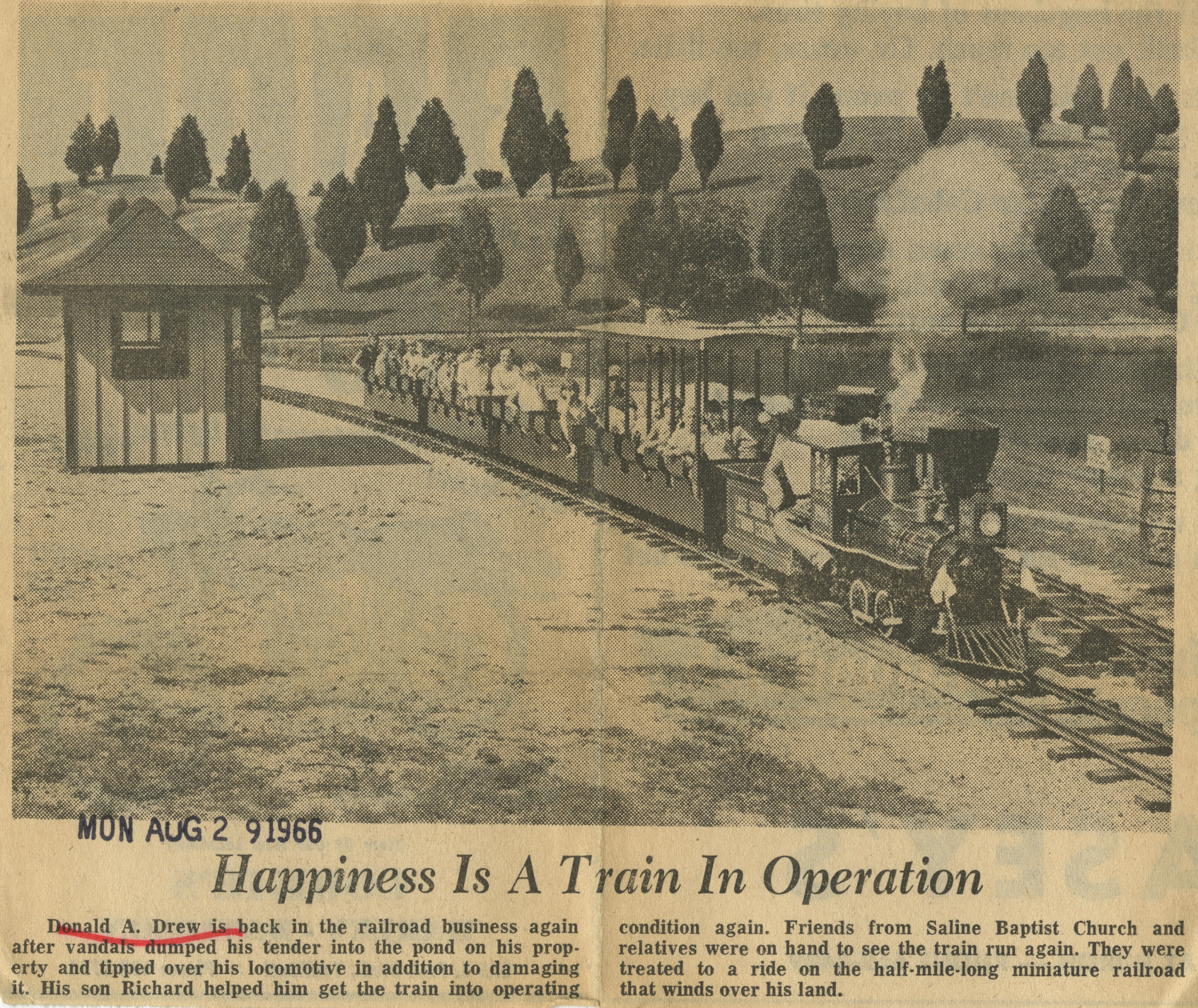 Happiness Is A Train In Operation image