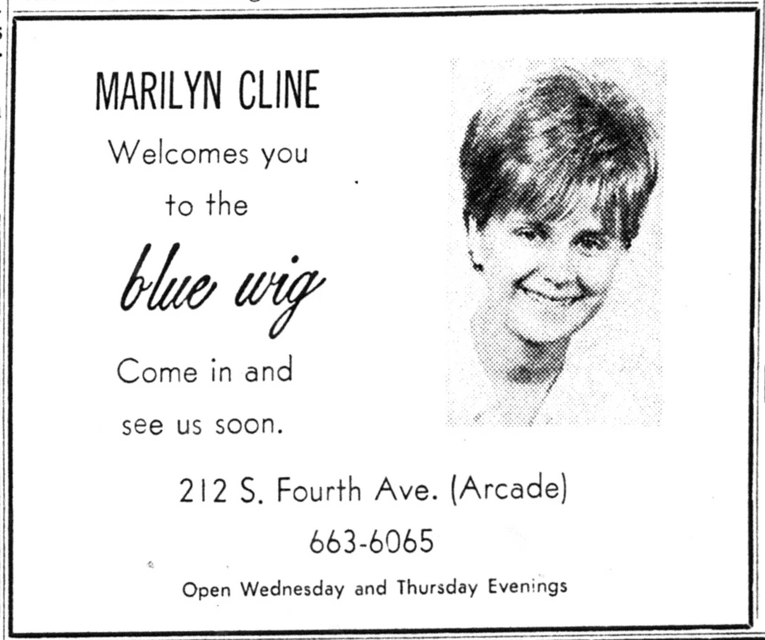 the blue wig [advertisement] image