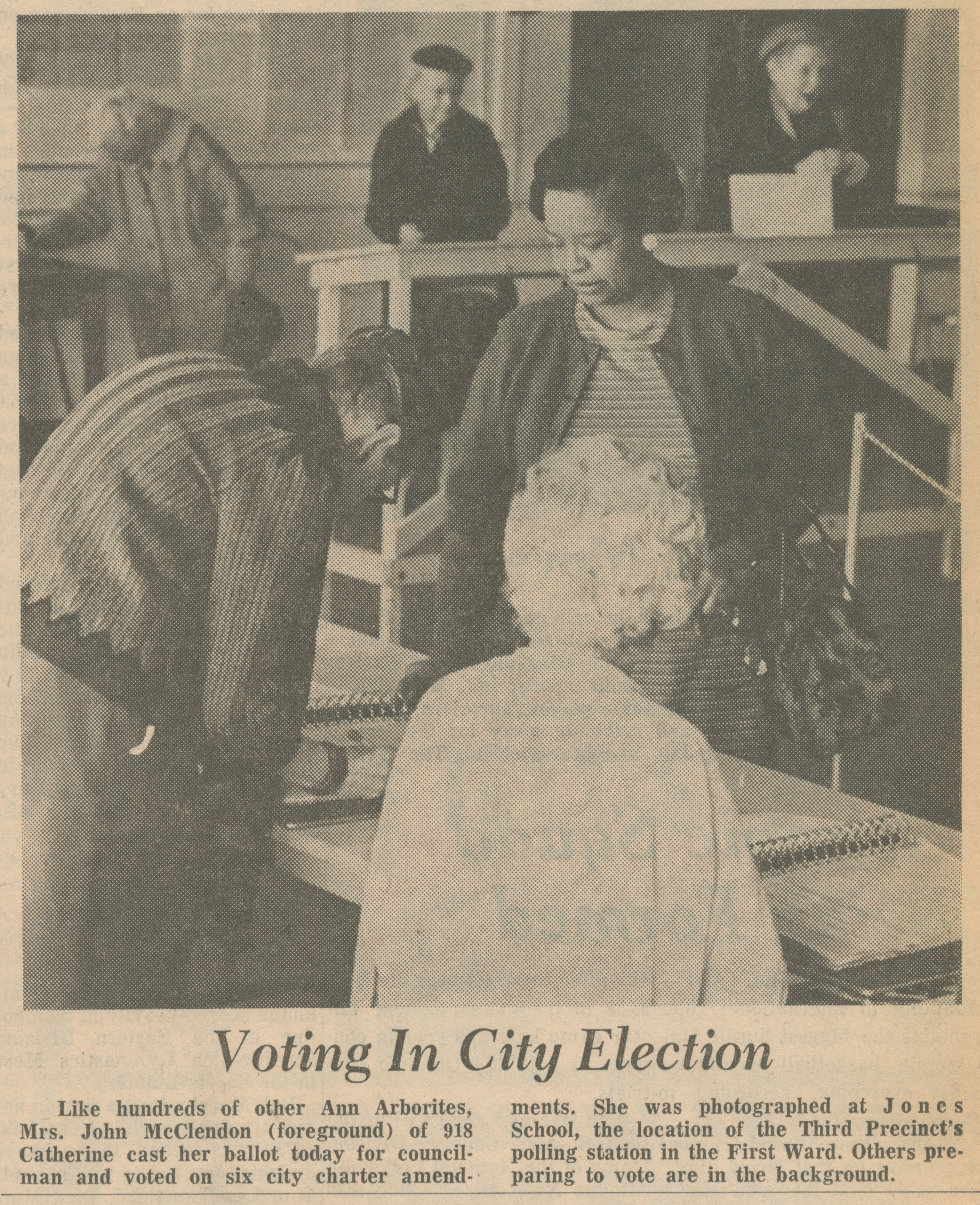 Voting In City Election image