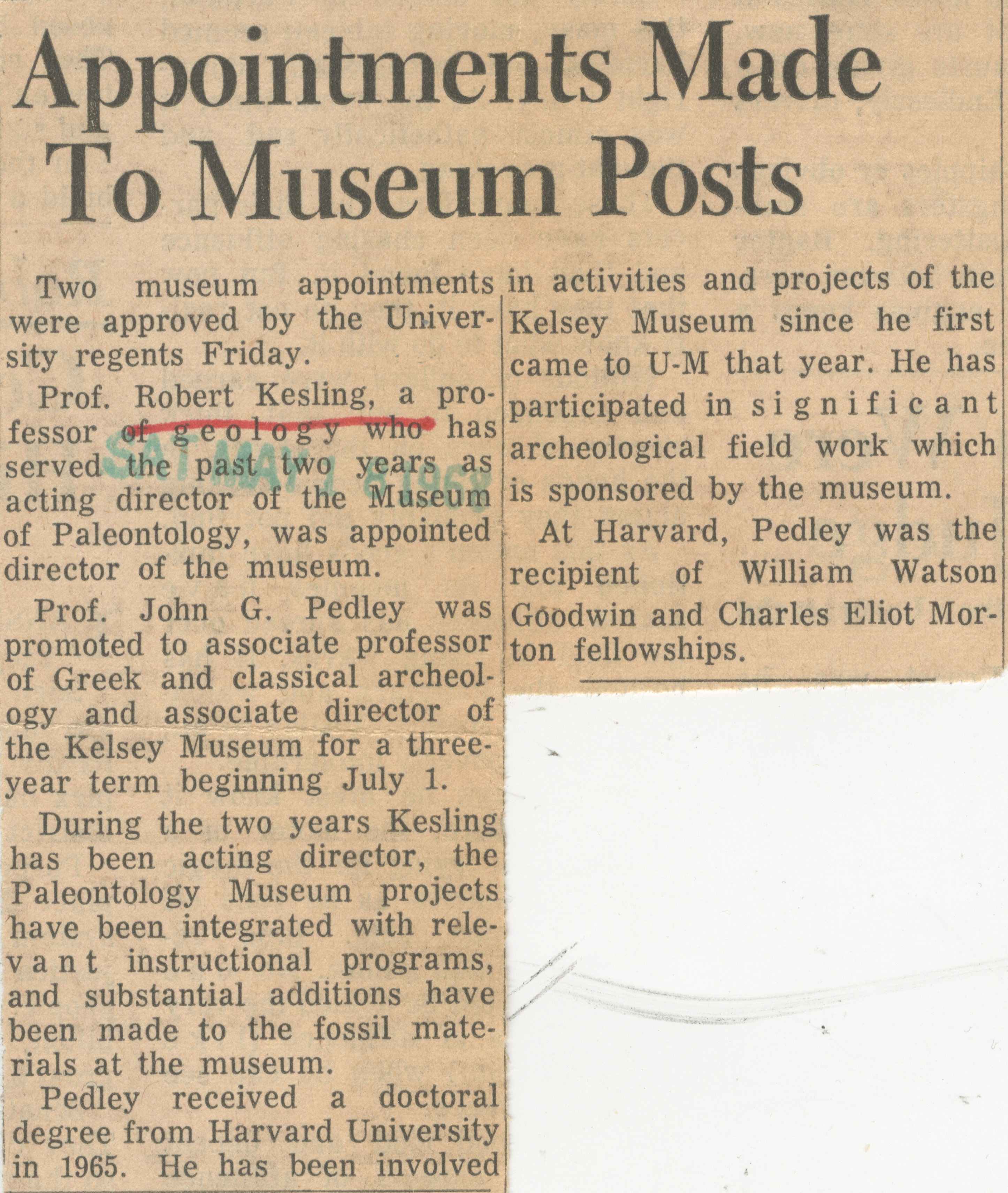 Appointments Made To Museum Posts image