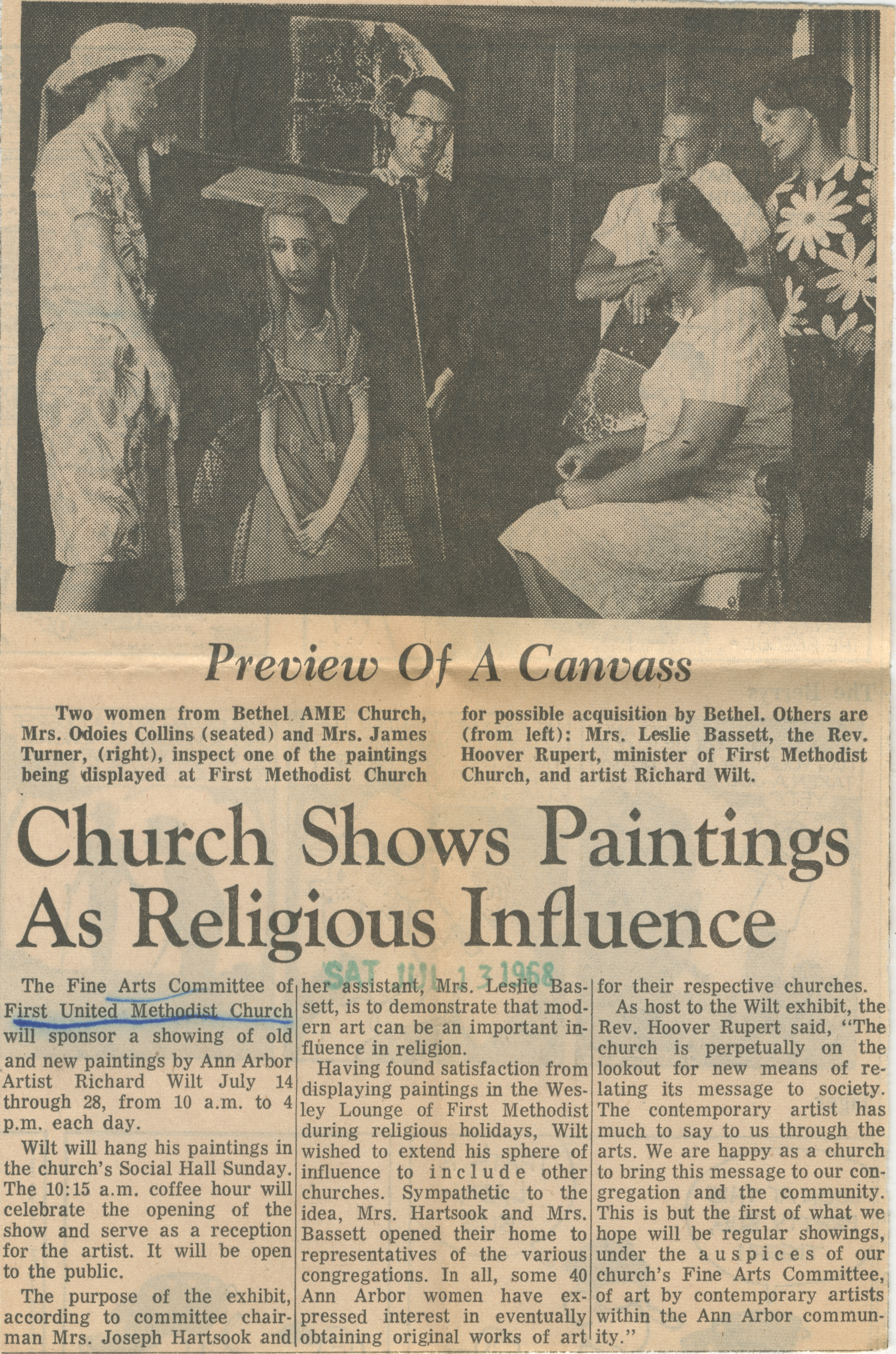 Church Shows Paintings As Religious Influence image