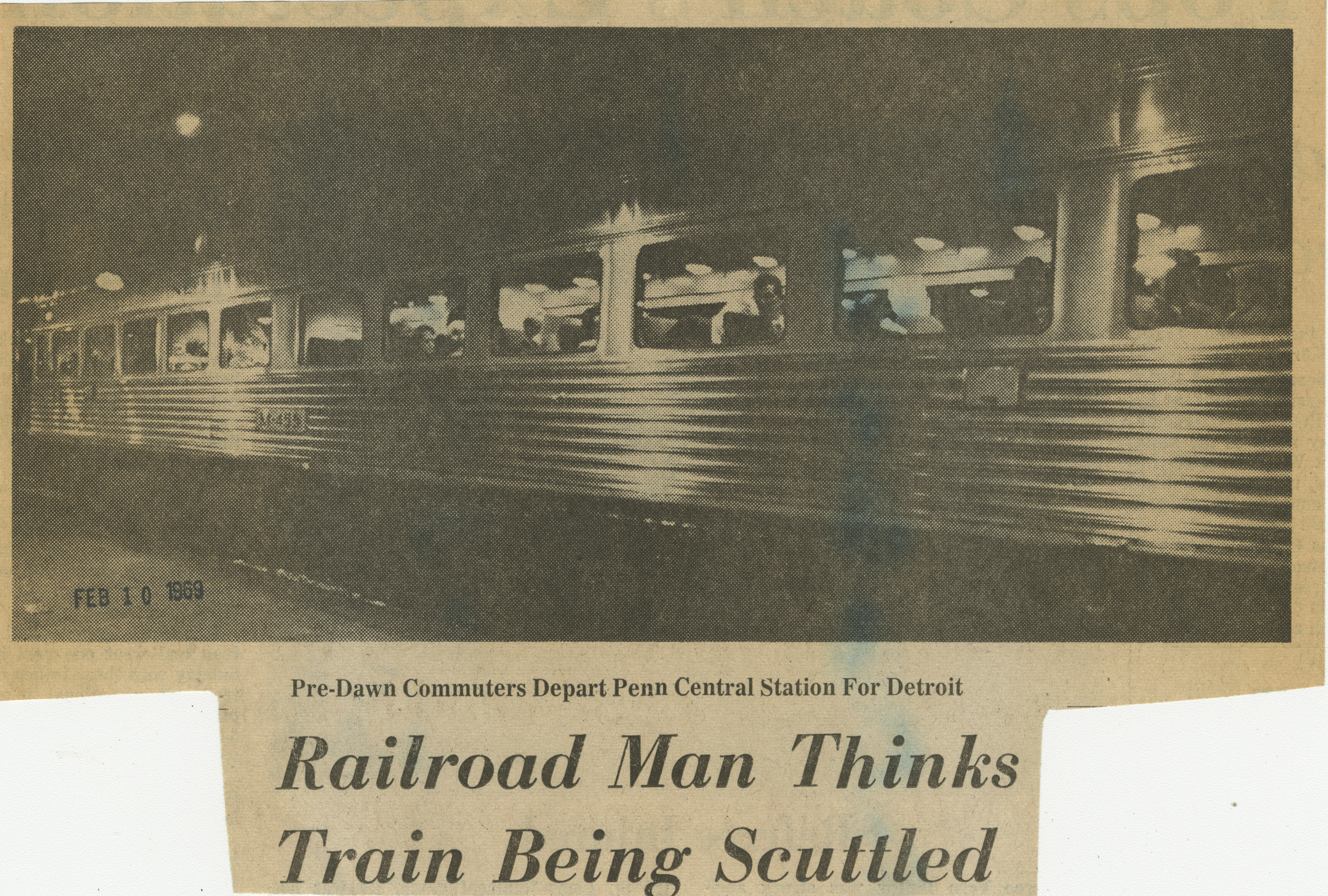 Railroad Man Thinks Train Being Scuttled image